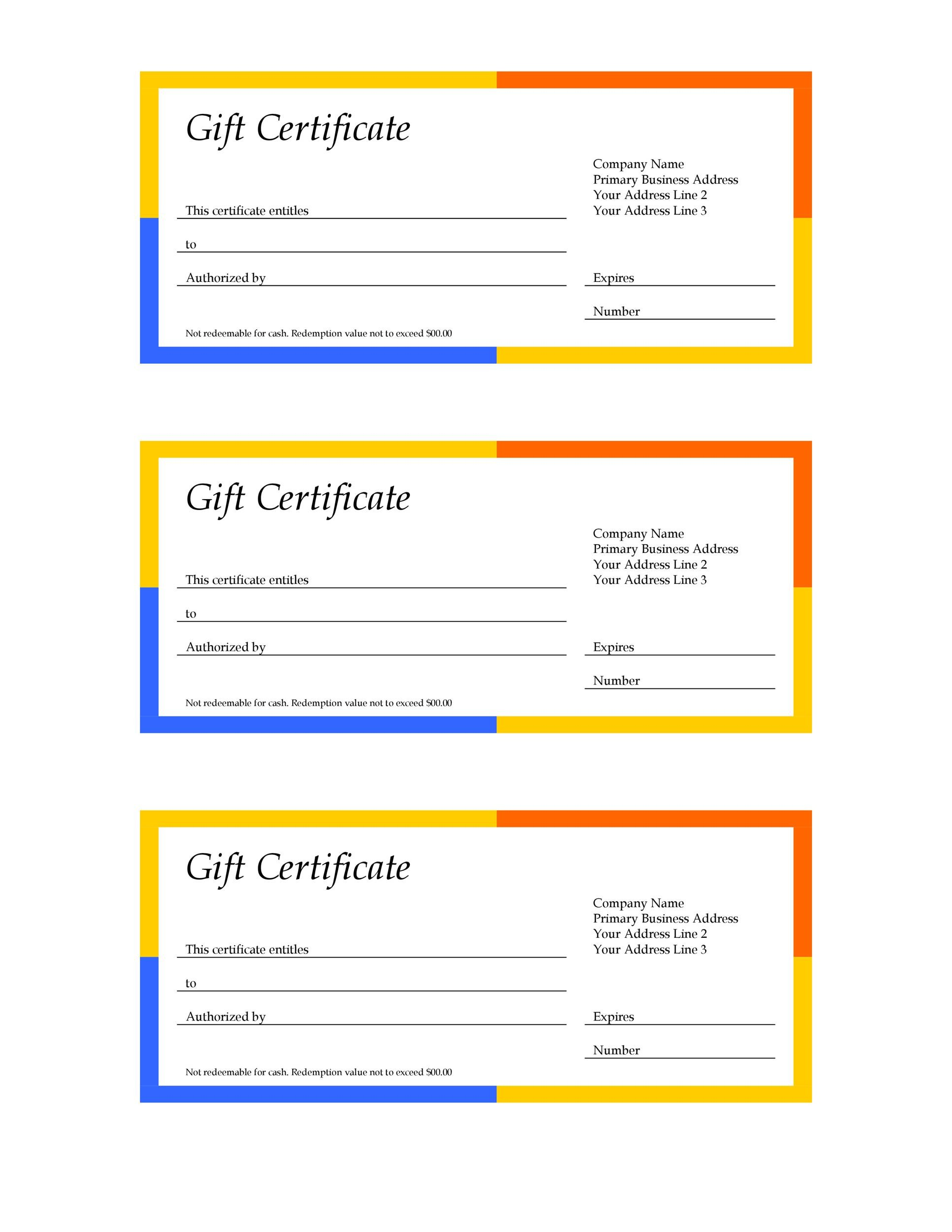 Free Gift Certificate Template 24