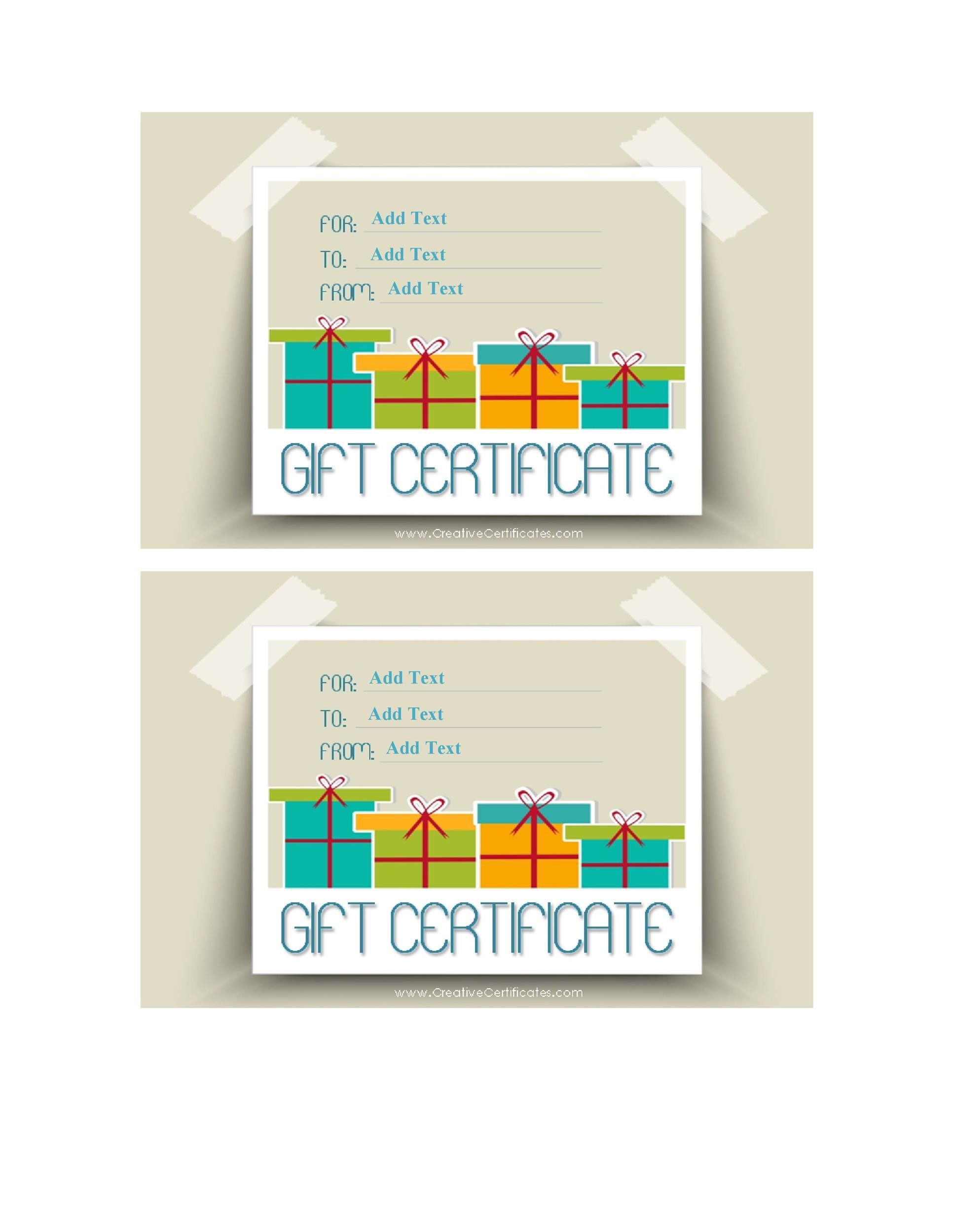 templates for gift certificates free downloads - 40 free gift certificate templates template lab