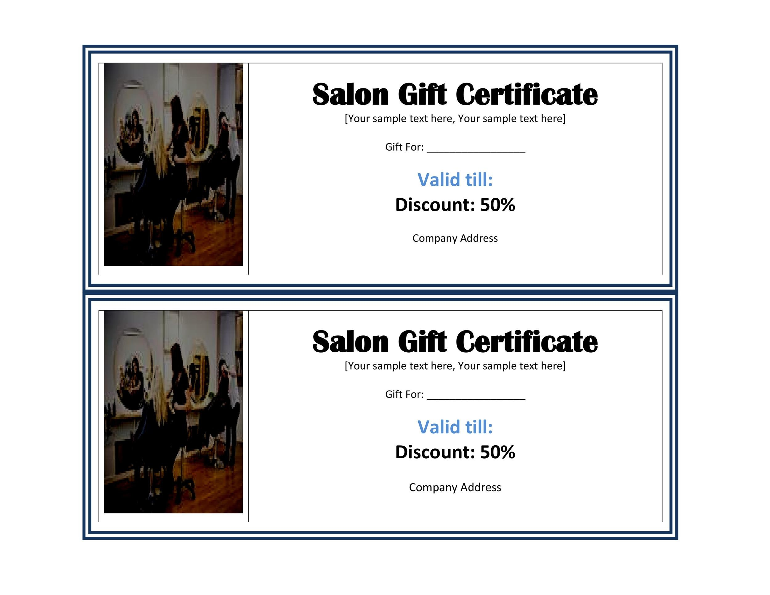 Free Gift Certificate Template 33