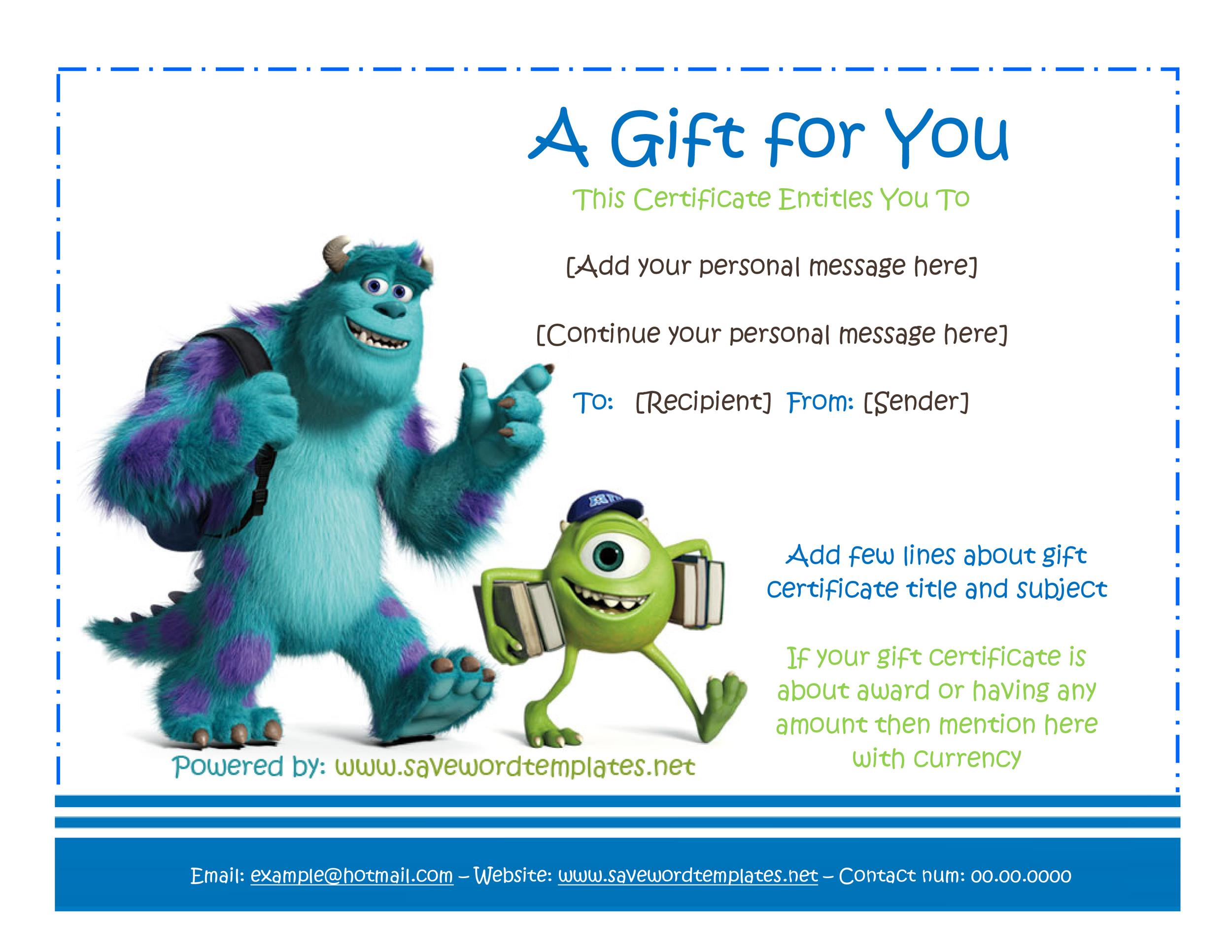 Free Gift Certificate Template 34