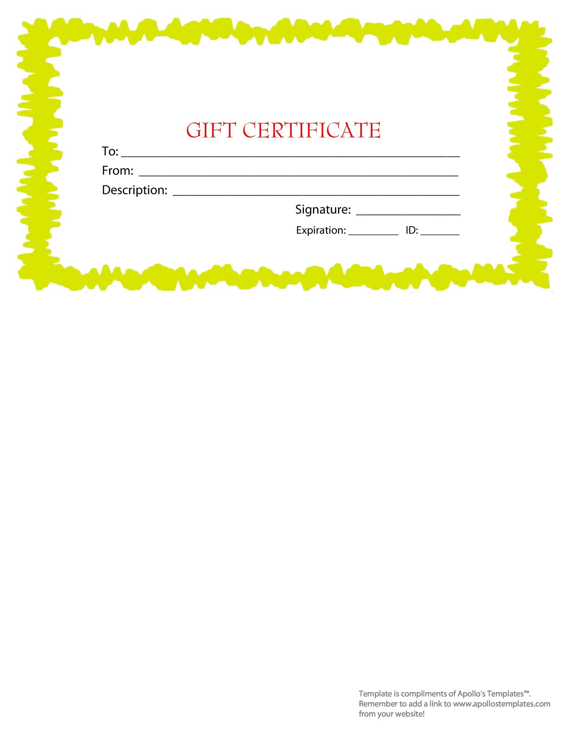 Gift Certificate Template 38