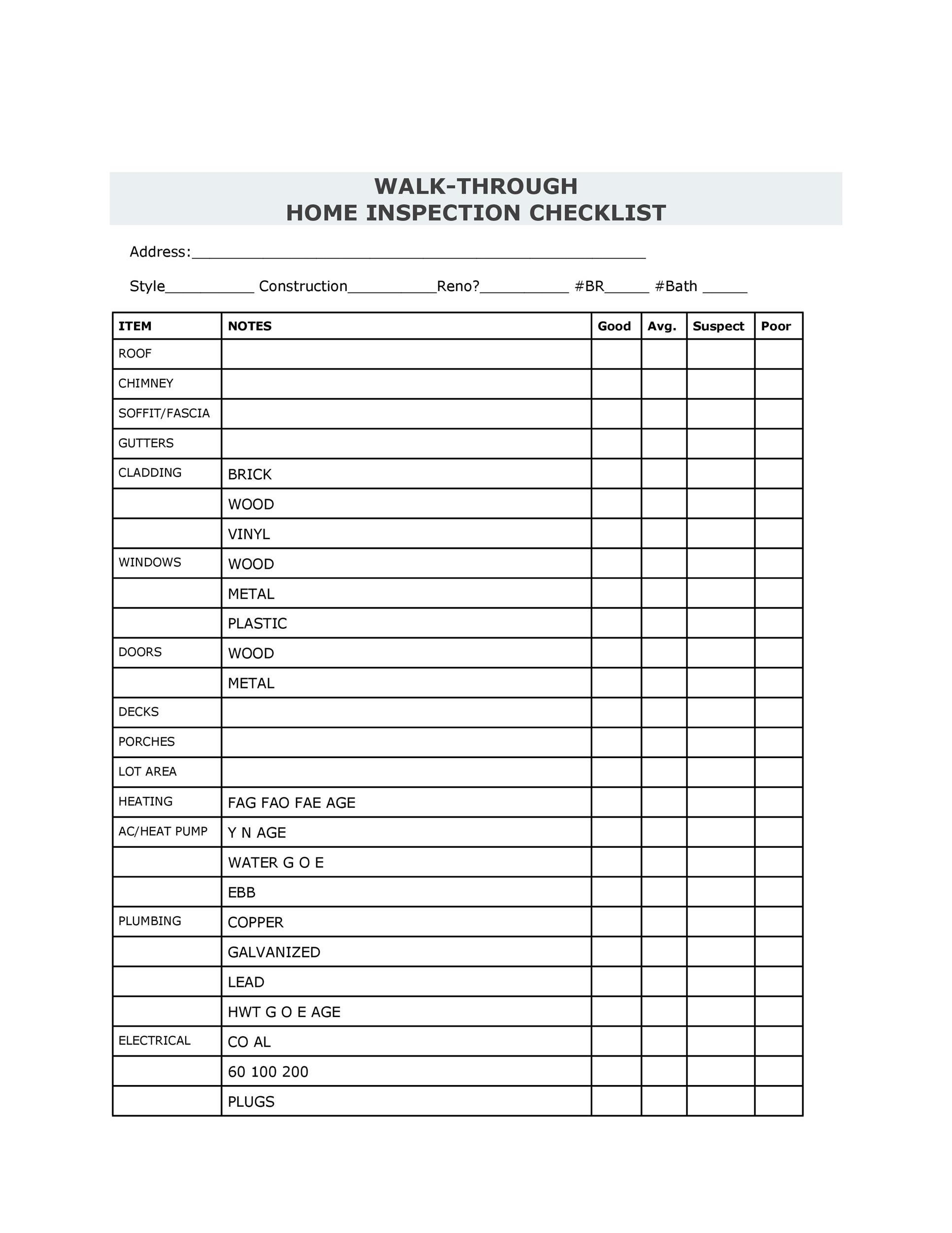 Free Home Inspection Checklist 02