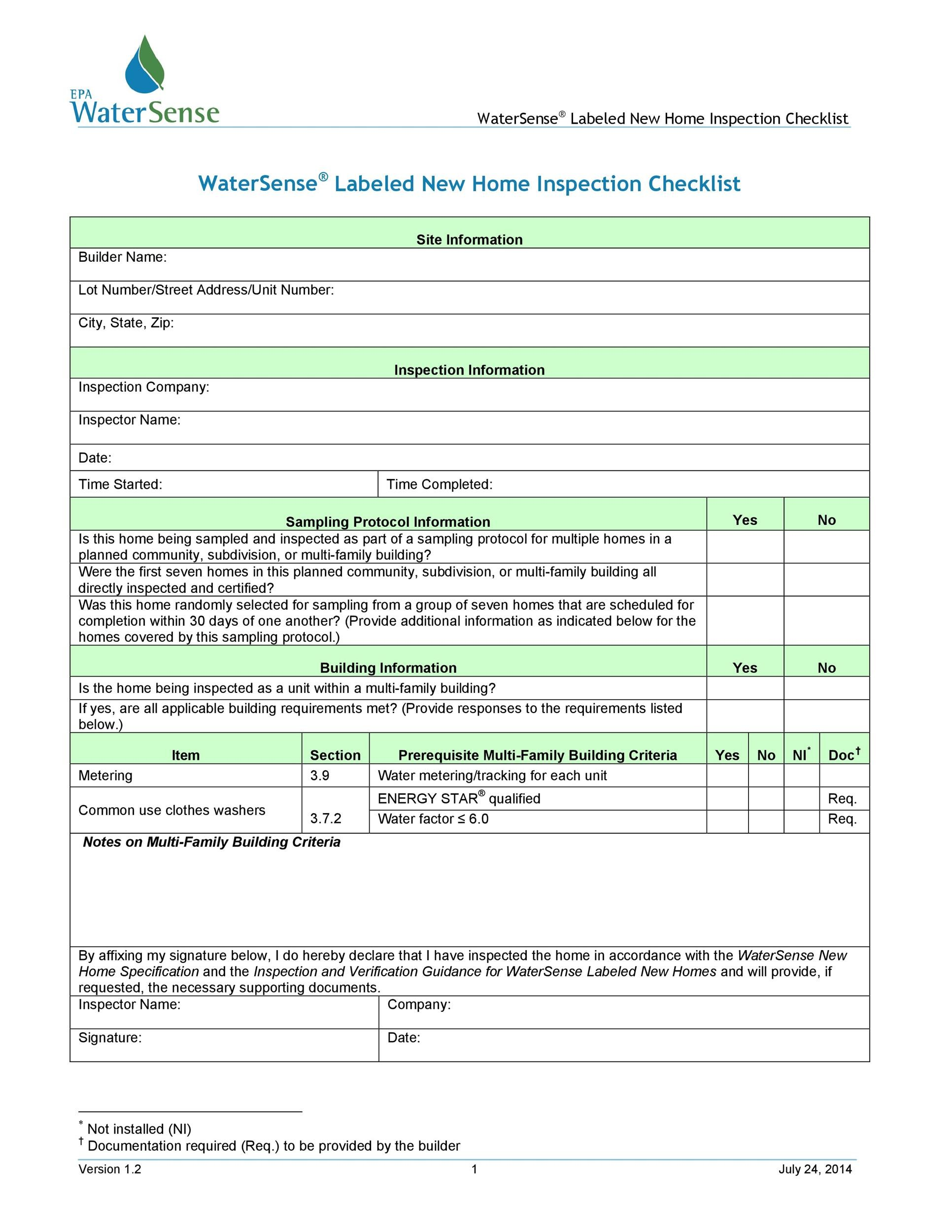 Free Home Inspection Checklist 20