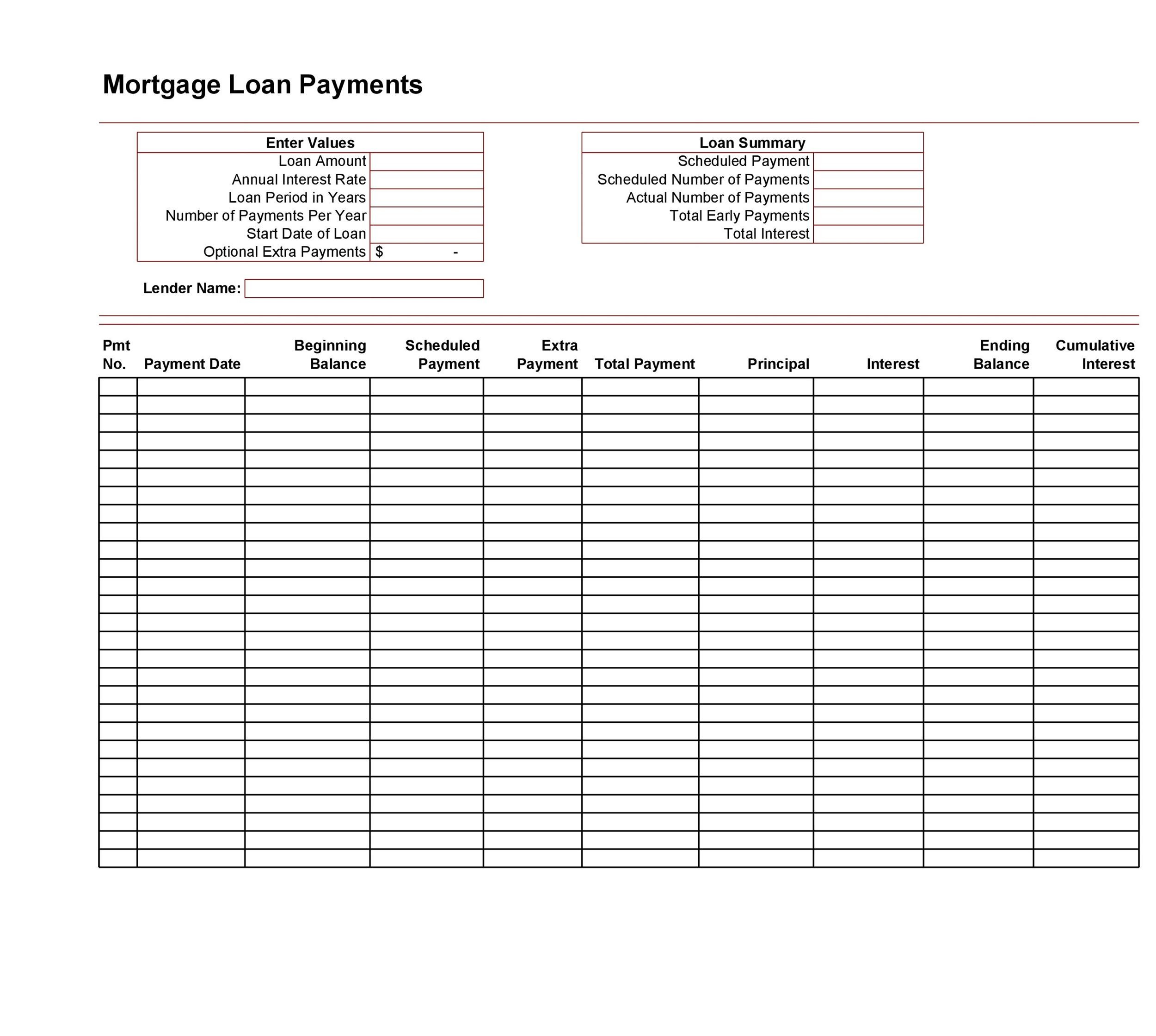 excel loan amortization schedule download free excel