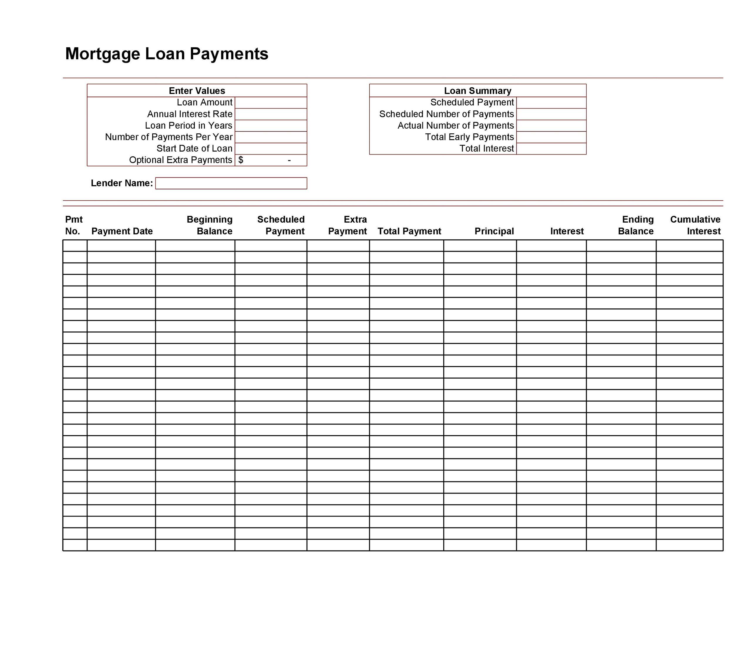 Free Loan Amortization Template 05