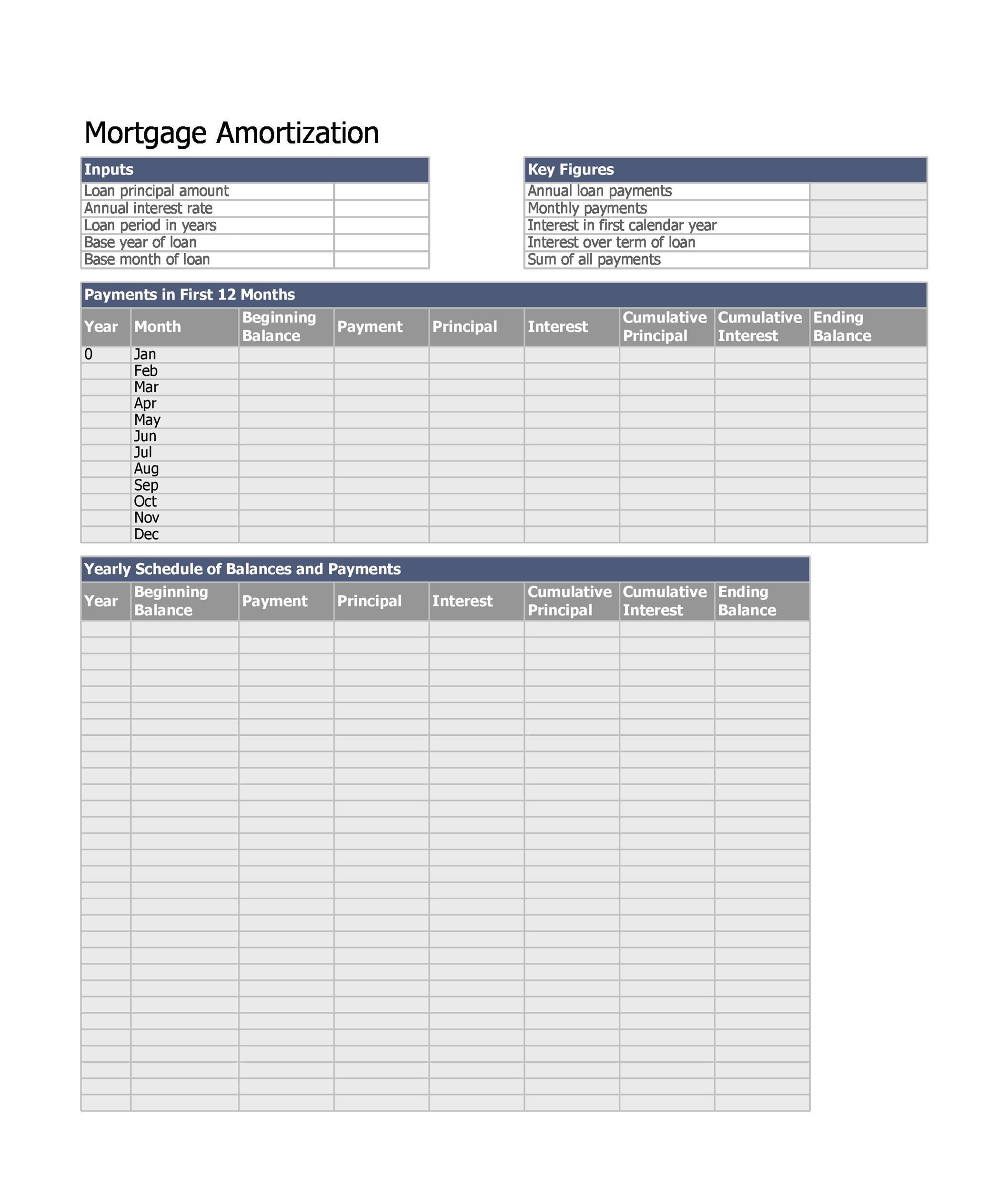 Free Loan Amortization Template 06