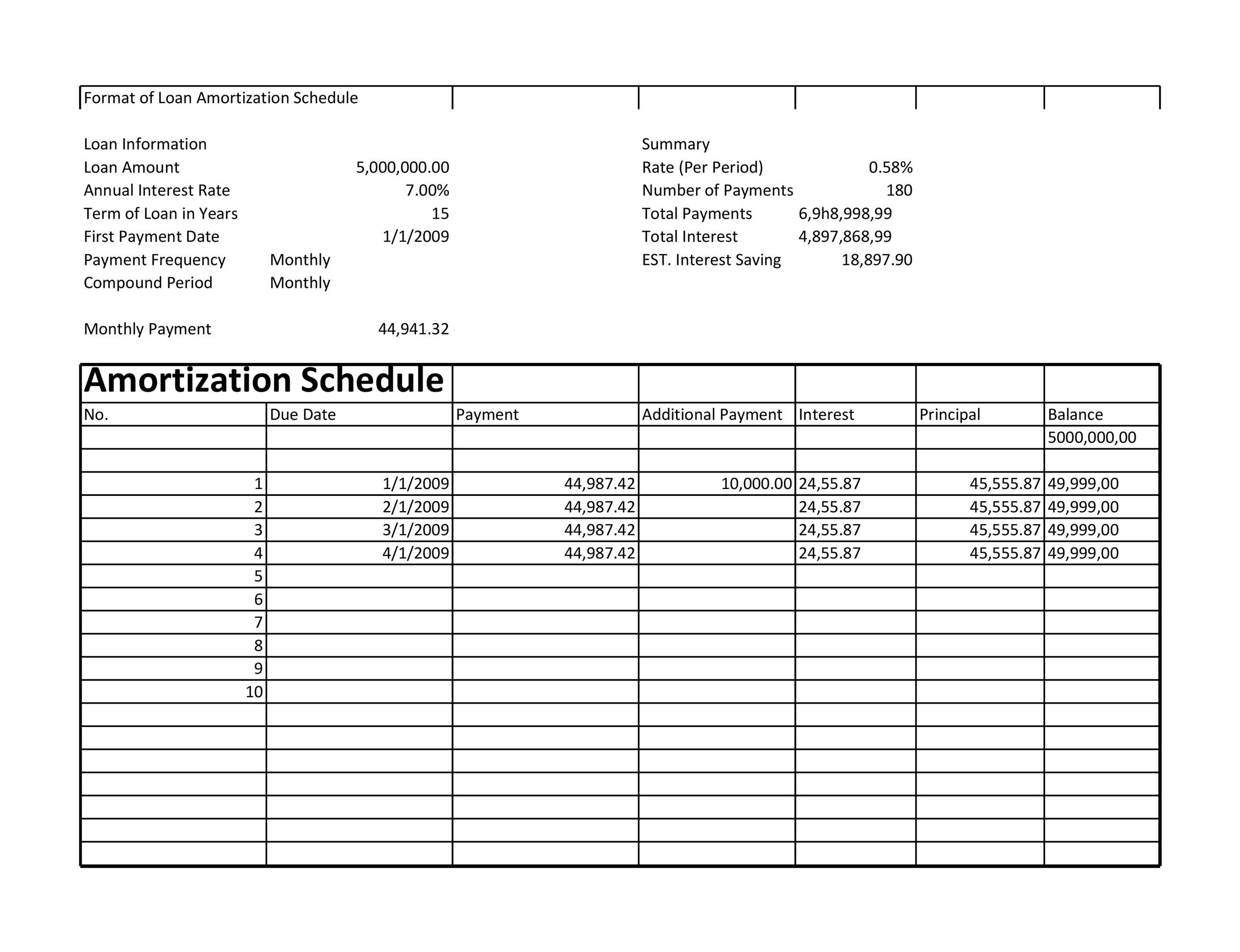 Free Loan Amortization Template 17