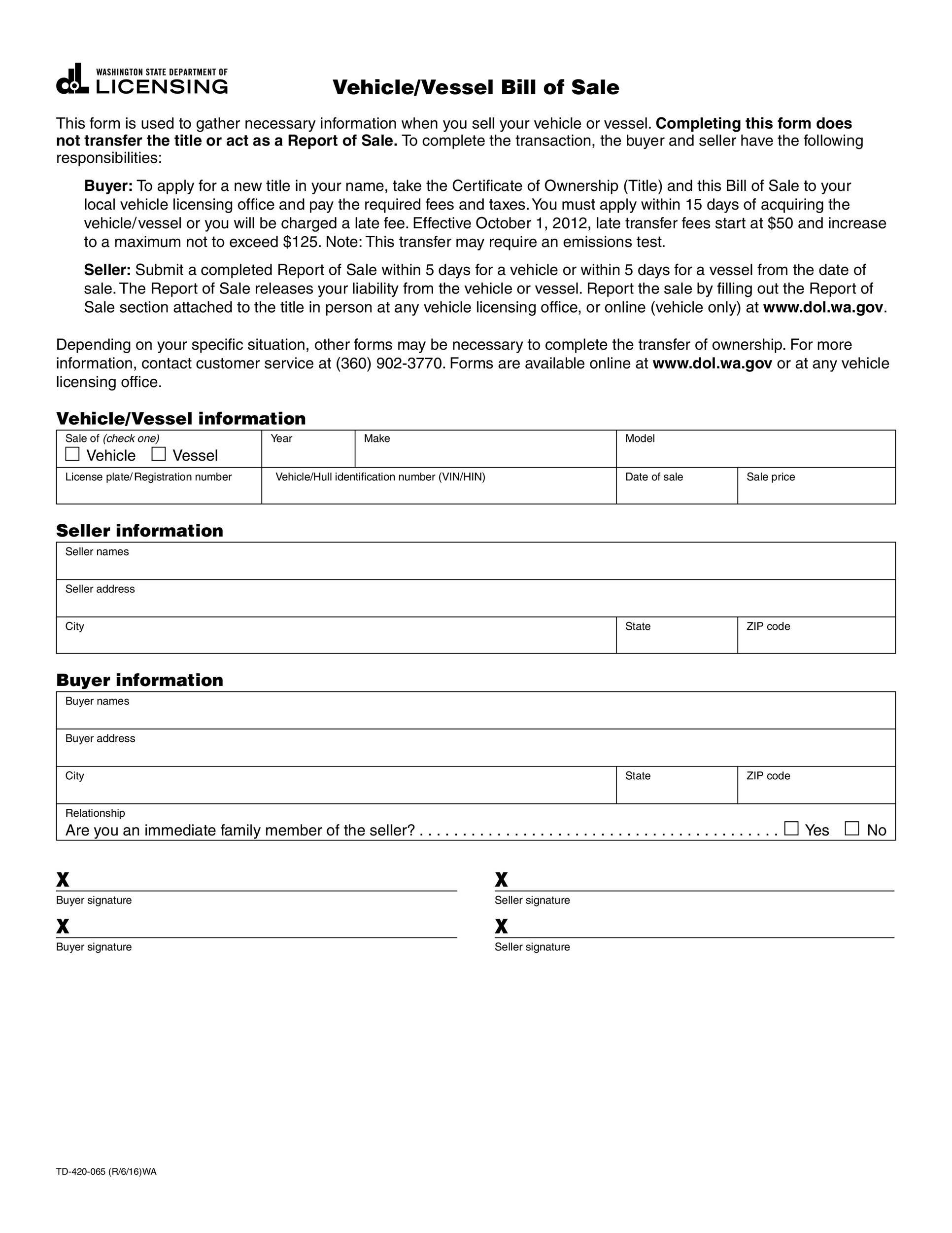 45 fee printable bill of sale templates car boat gun vehicle template lab. Black Bedroom Furniture Sets. Home Design Ideas