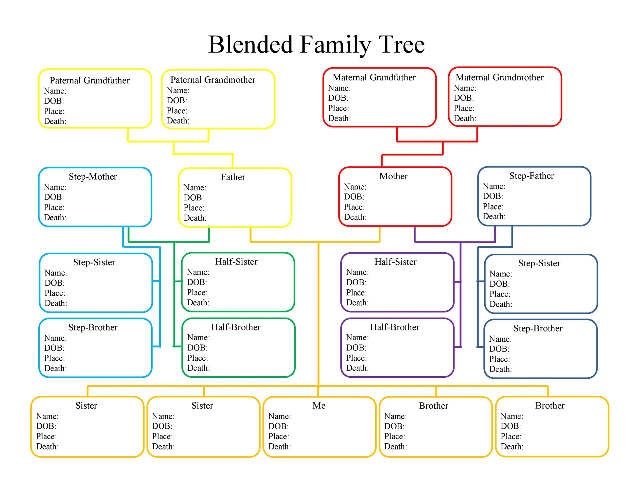 50 free family tree templates word excel pdf for Family tree template word 2007