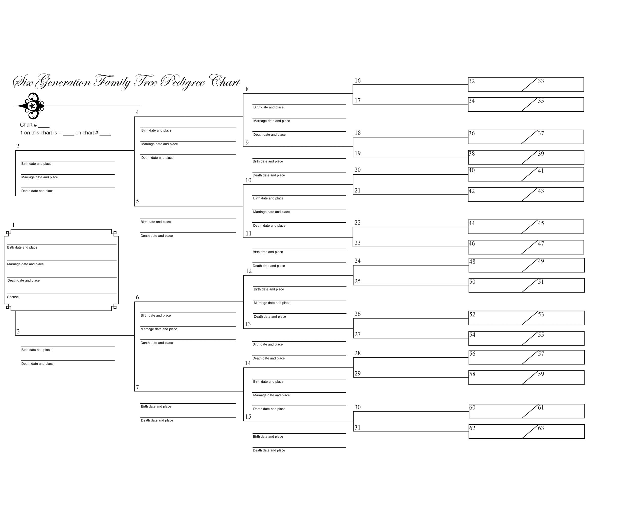 40 free family tree templates word excel pdf for Family history charts templates