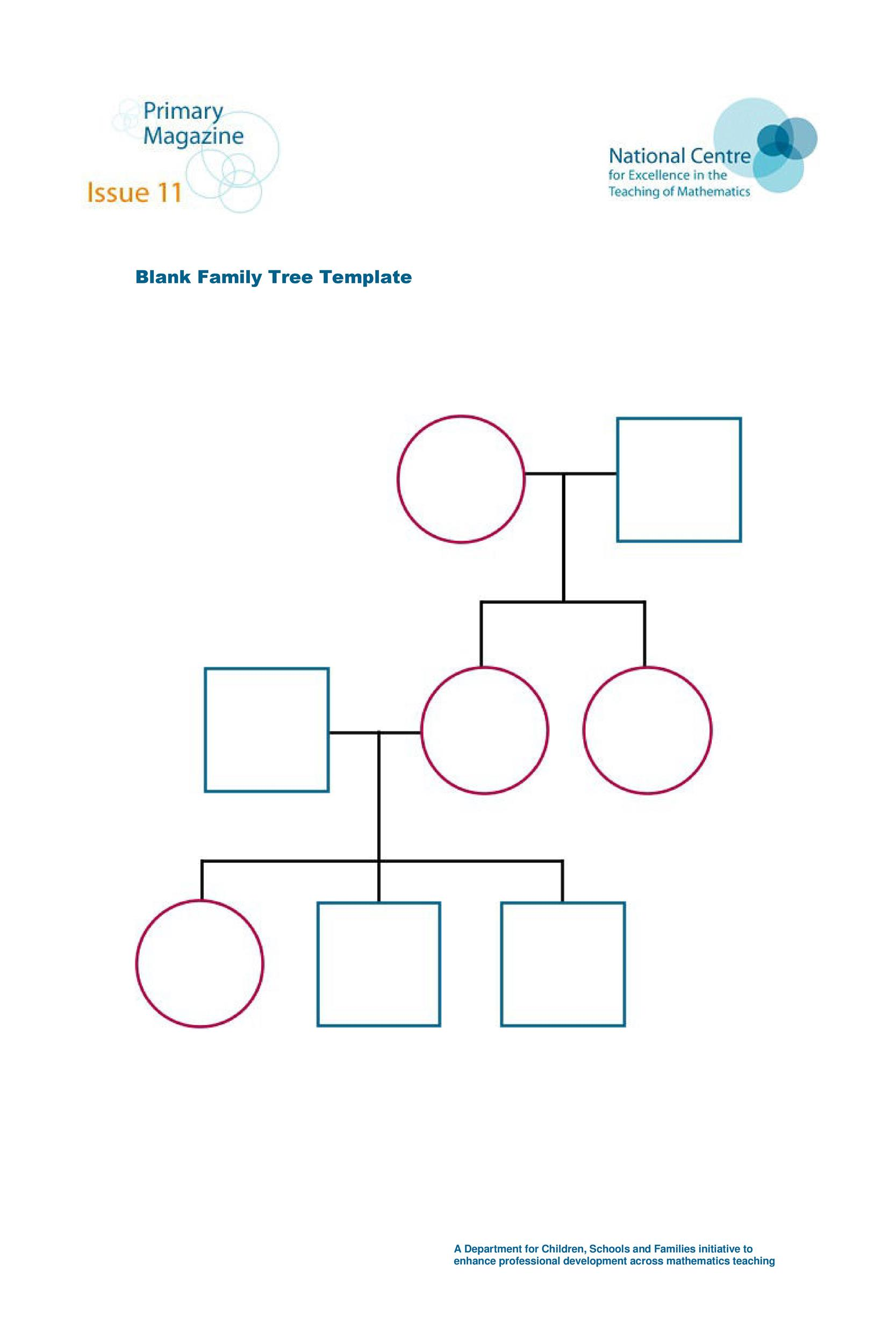 40 Free Family Tree Templates Word Excel PDF Template Lab – Blank Family Tree Template