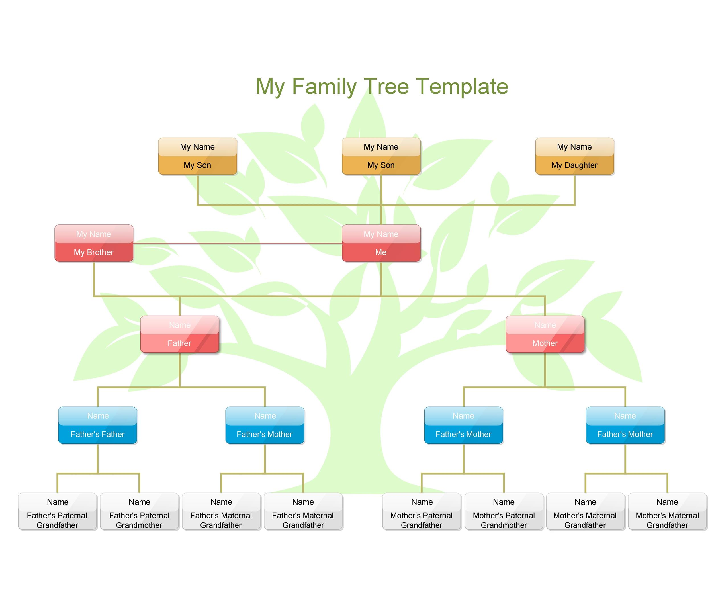 Free family tree template 17