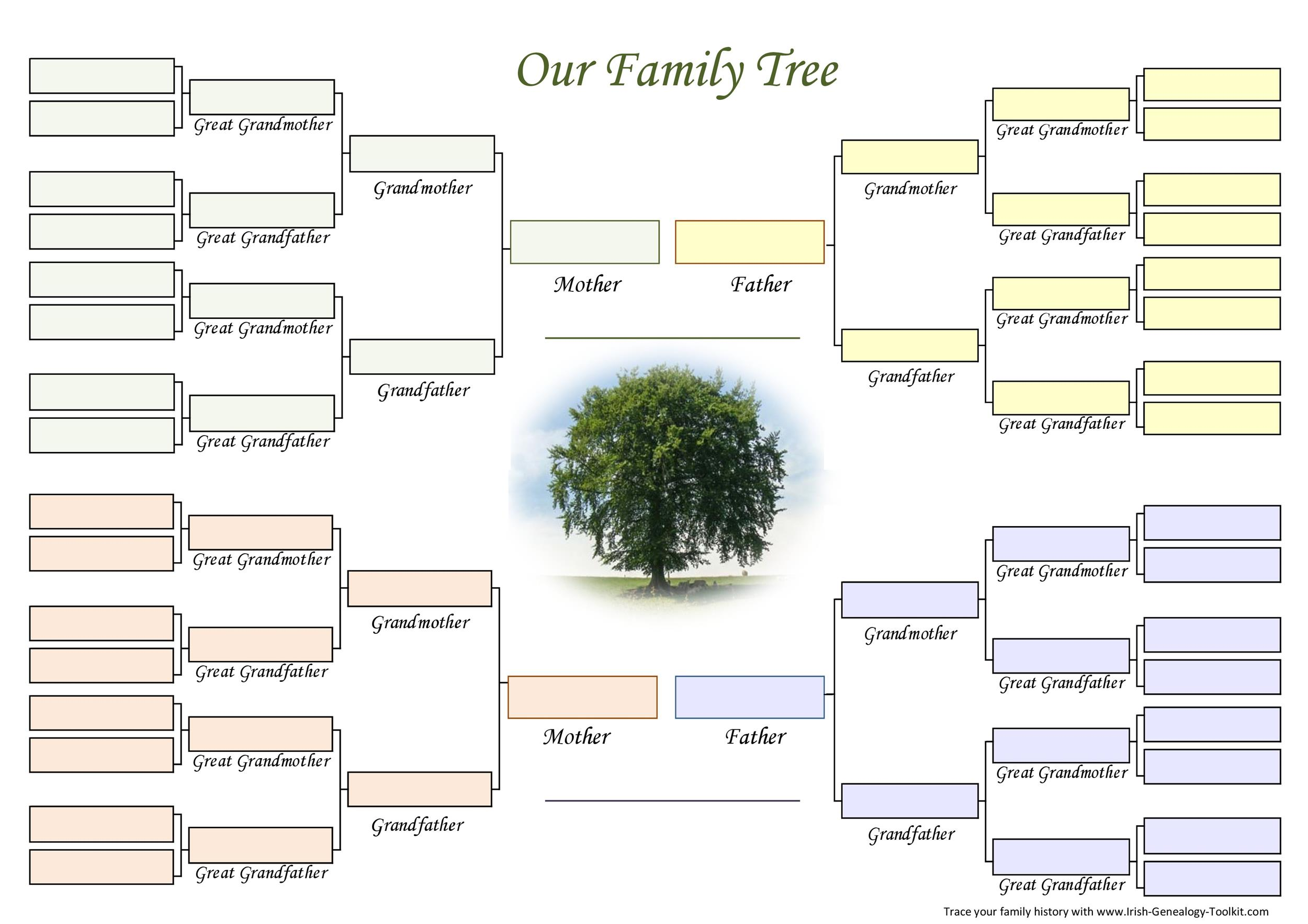 word templates family tree