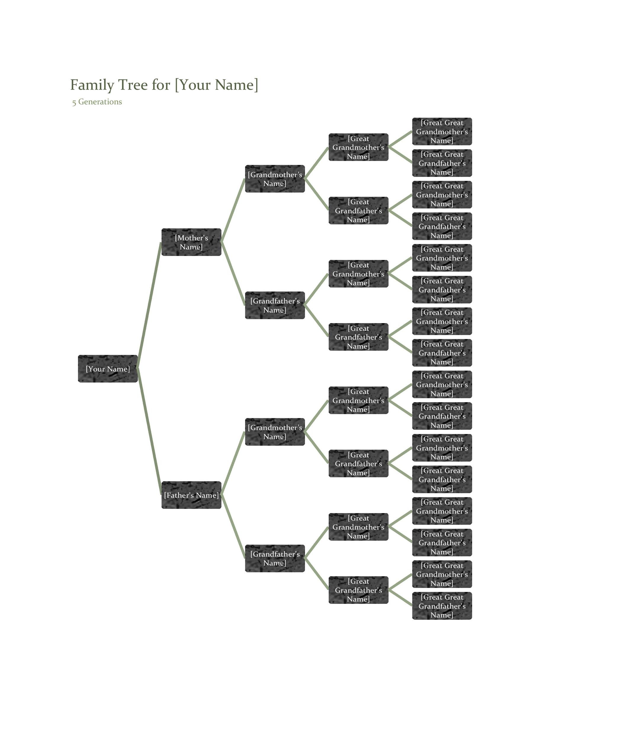 Free family tree template 33