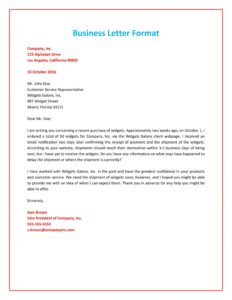 formal business letter 01