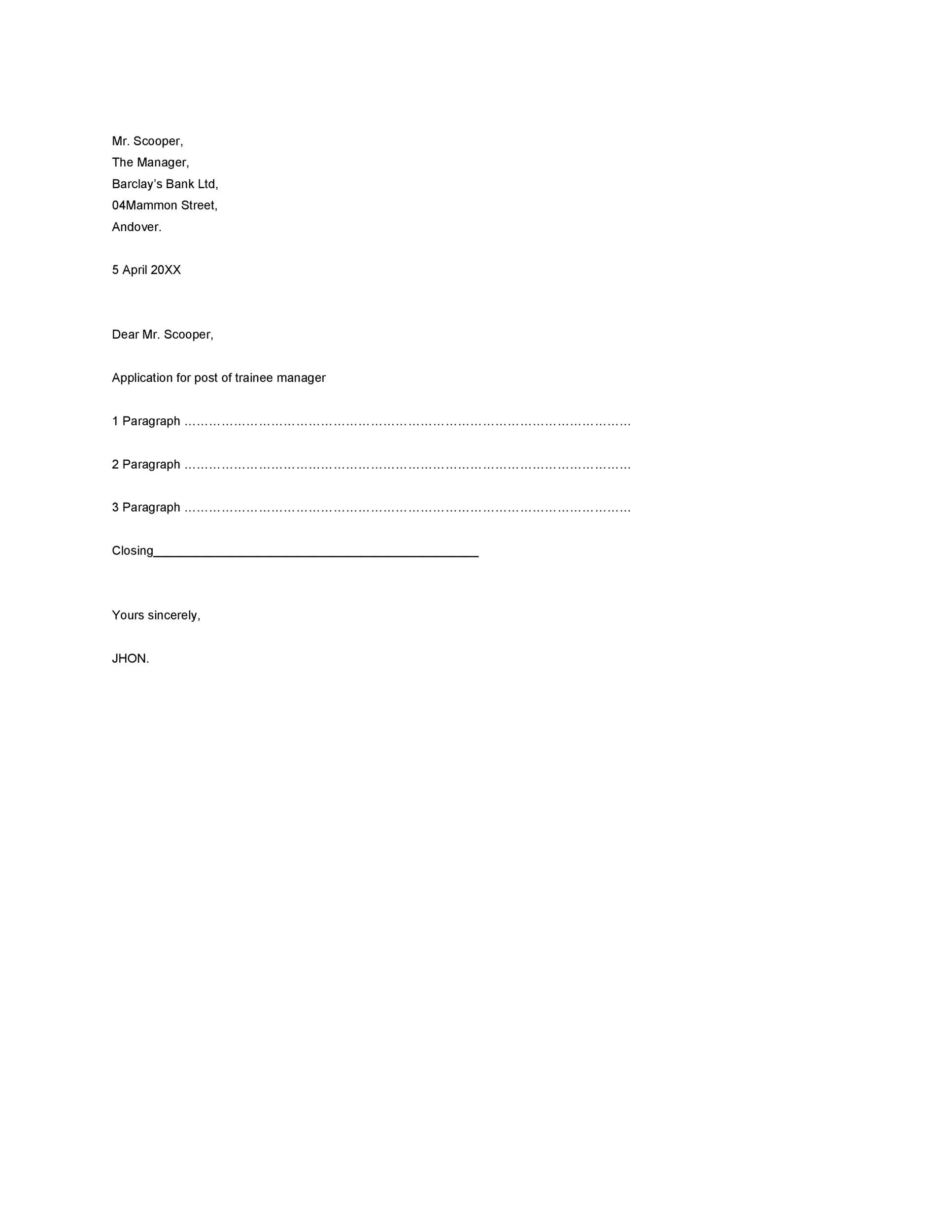 Free Formal Business Letter 09