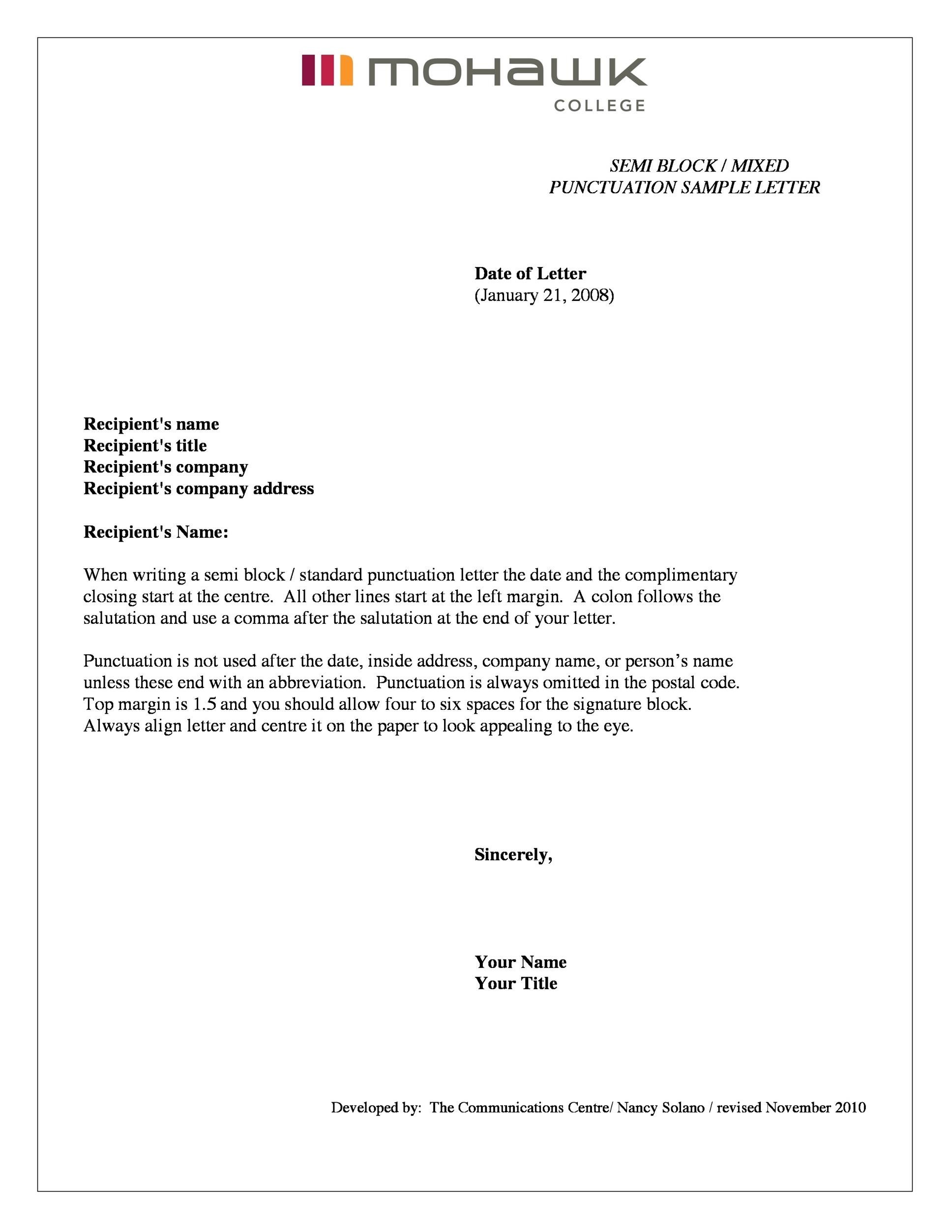35 Formal Business Letter Format Templates Examples Template Lab