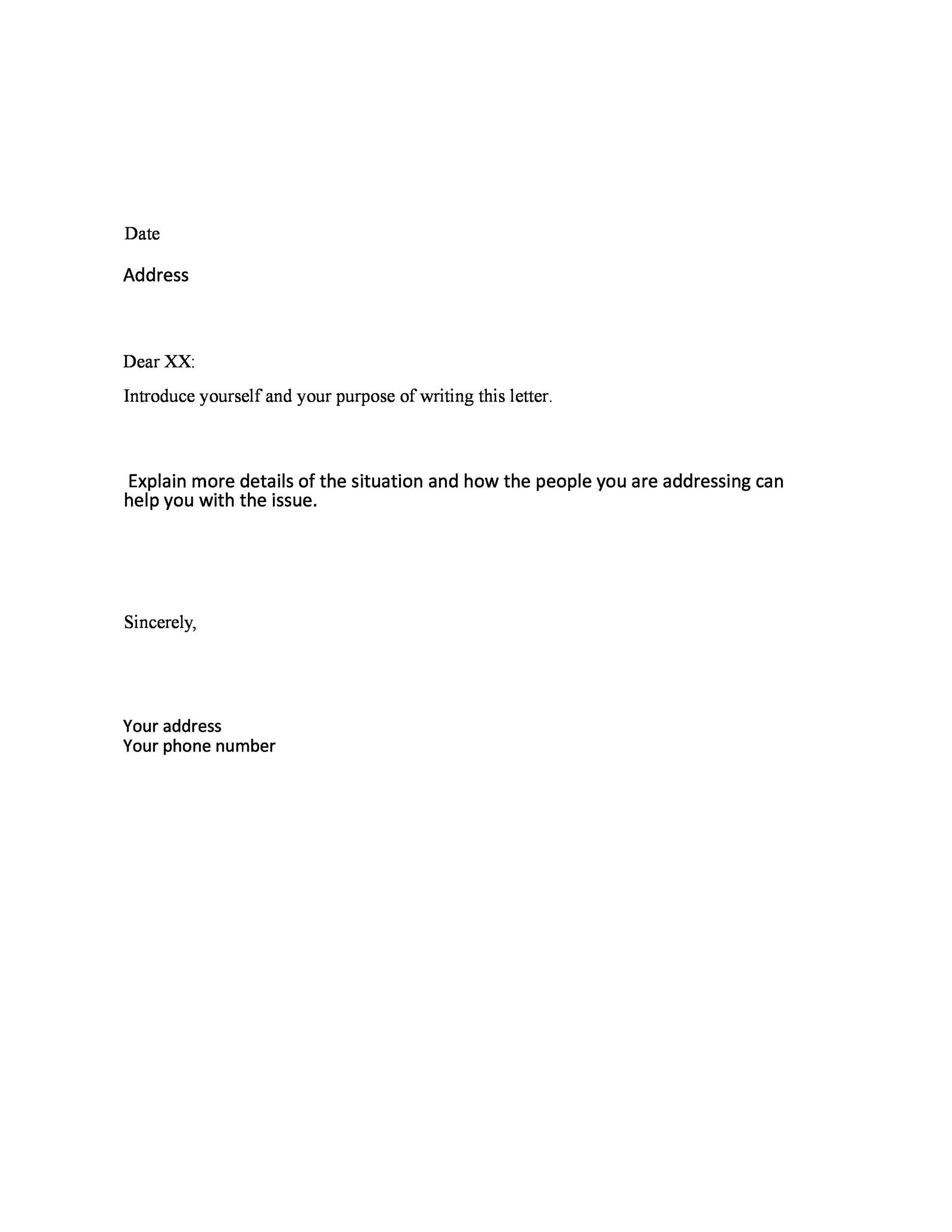printable formal business letter 19