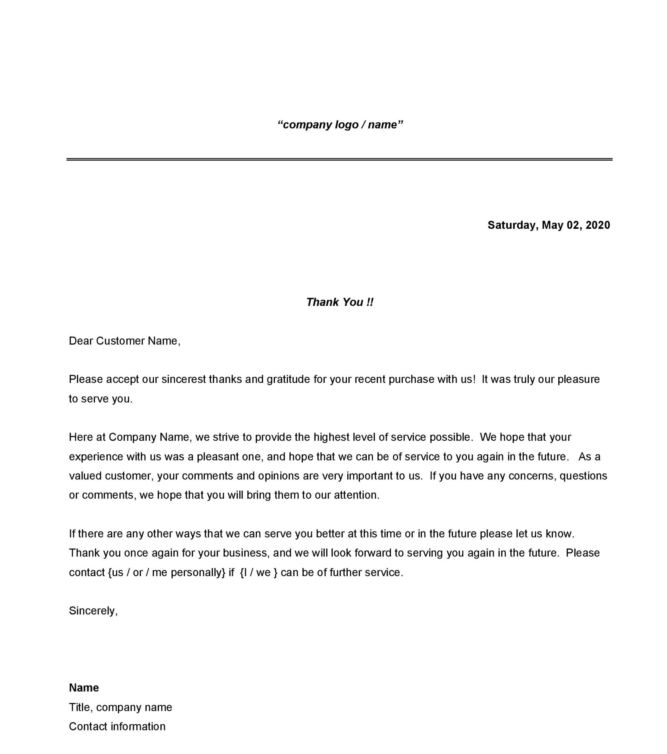 Free Formal Business Letter 33