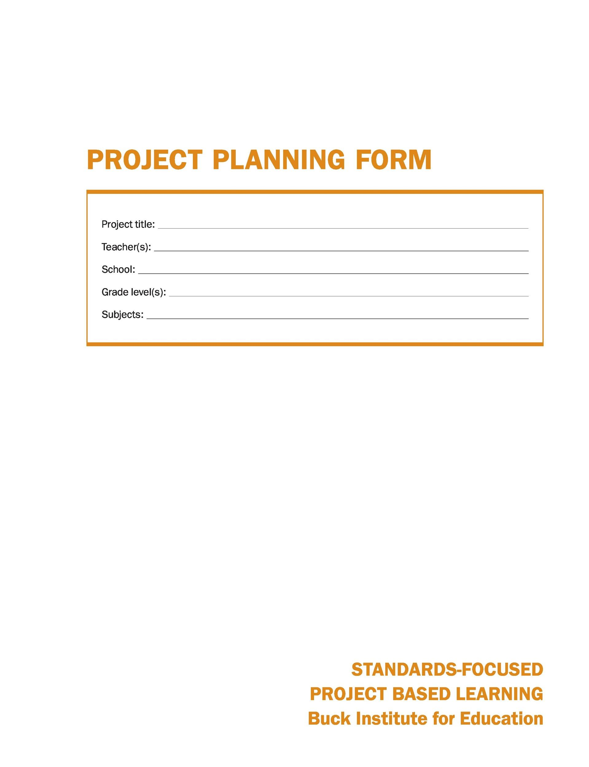 Free project planning template 02