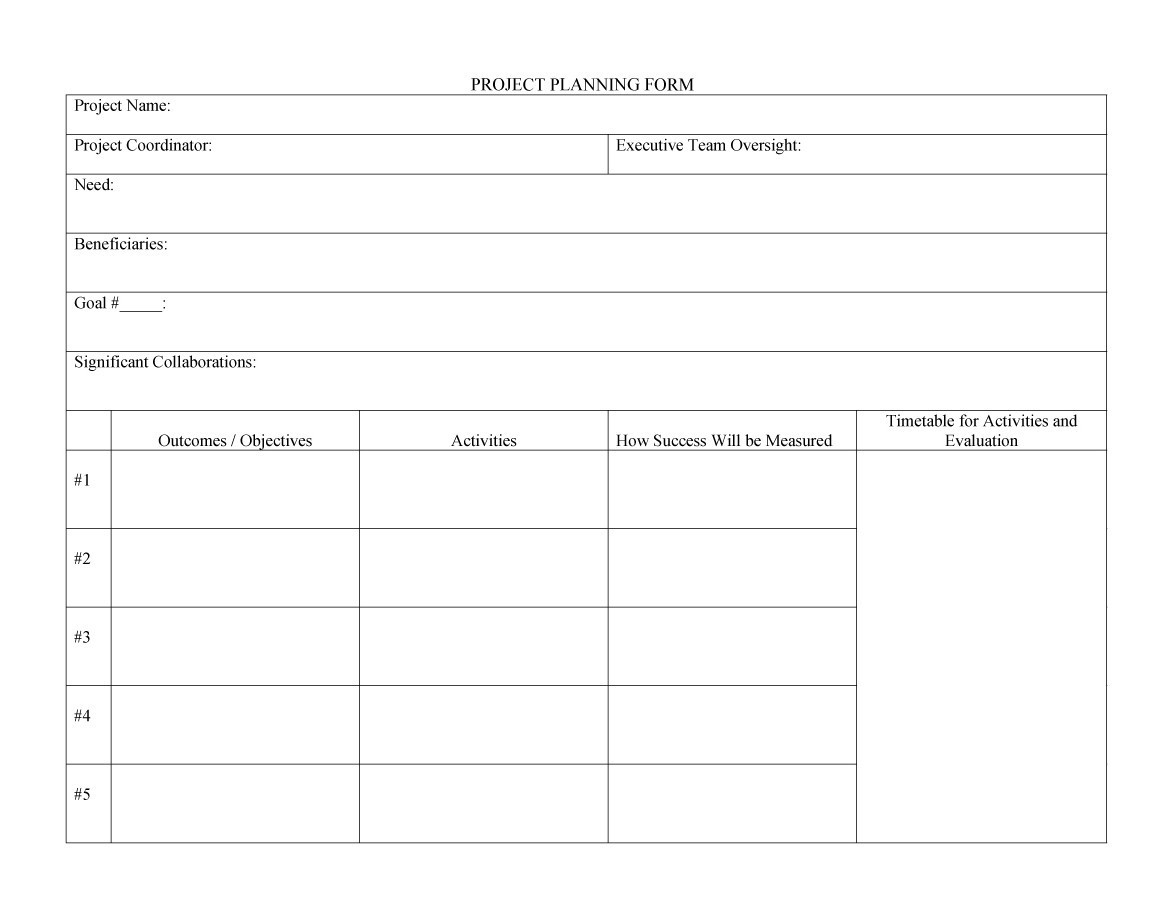 Free project planning template 05