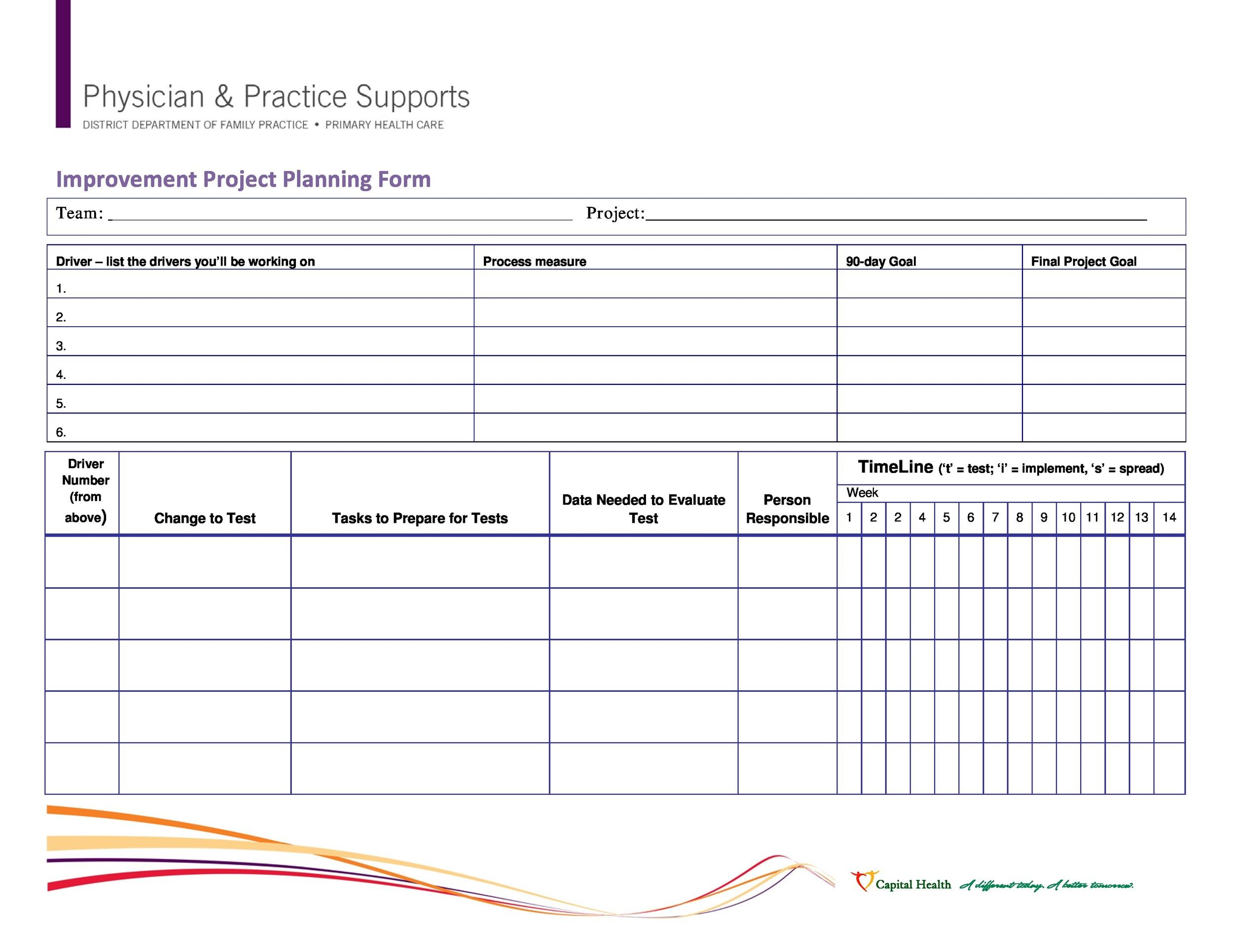 Printable Project Planning Template 06  Project Plan Templates Word