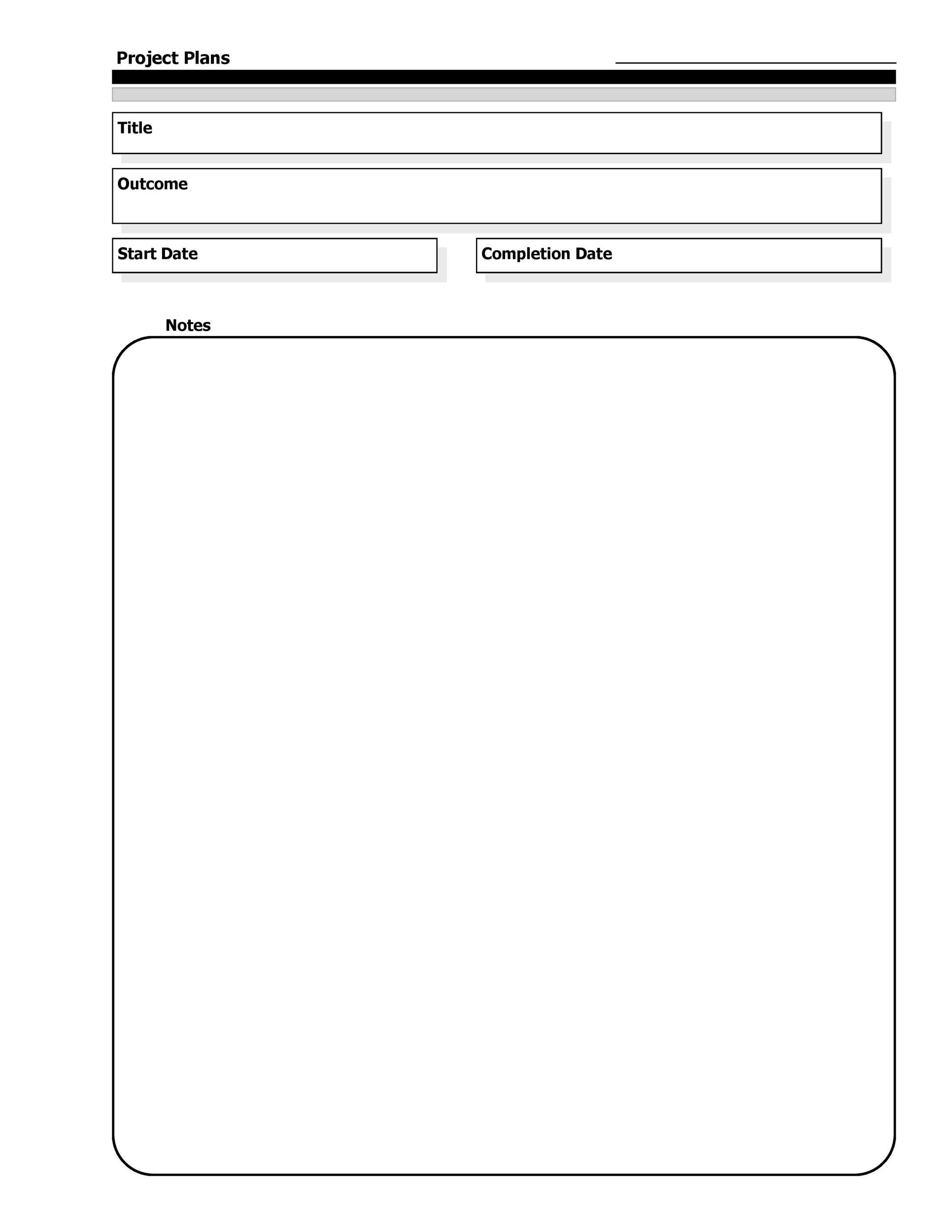 project planner template free download