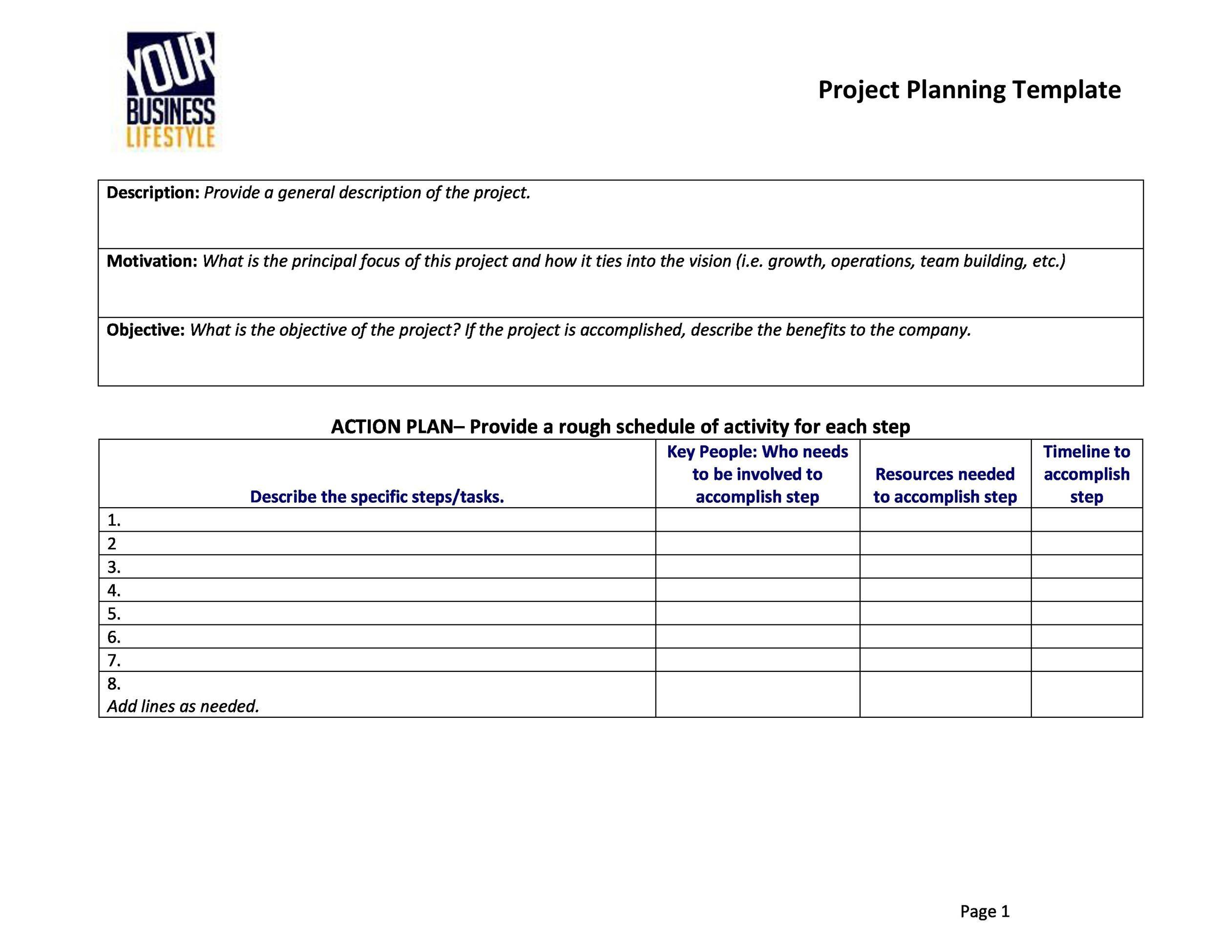 multi generational project plan template - 48 professional project plan templates excel word pdf