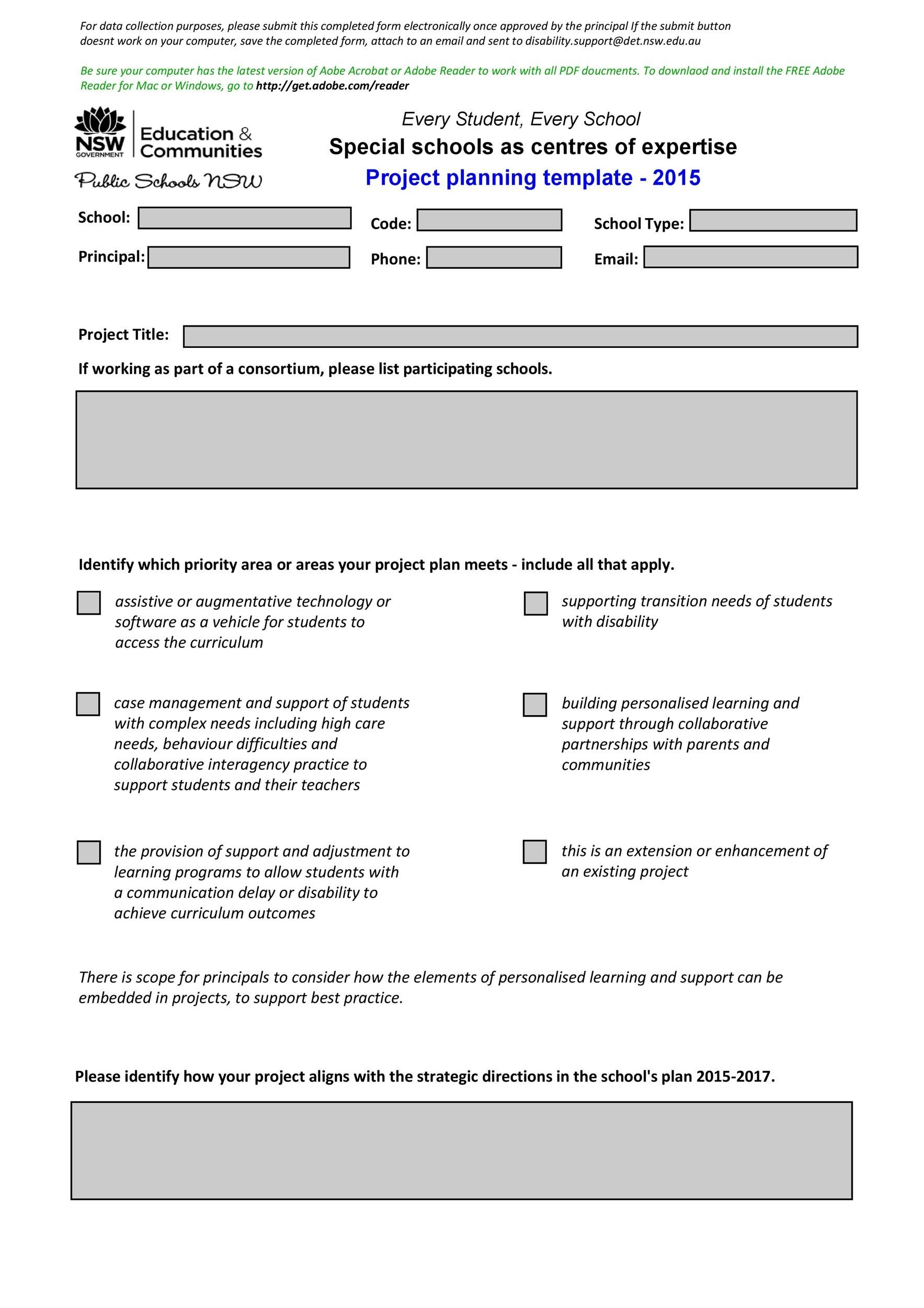 printable project planning template 13 - Sample Project Plan