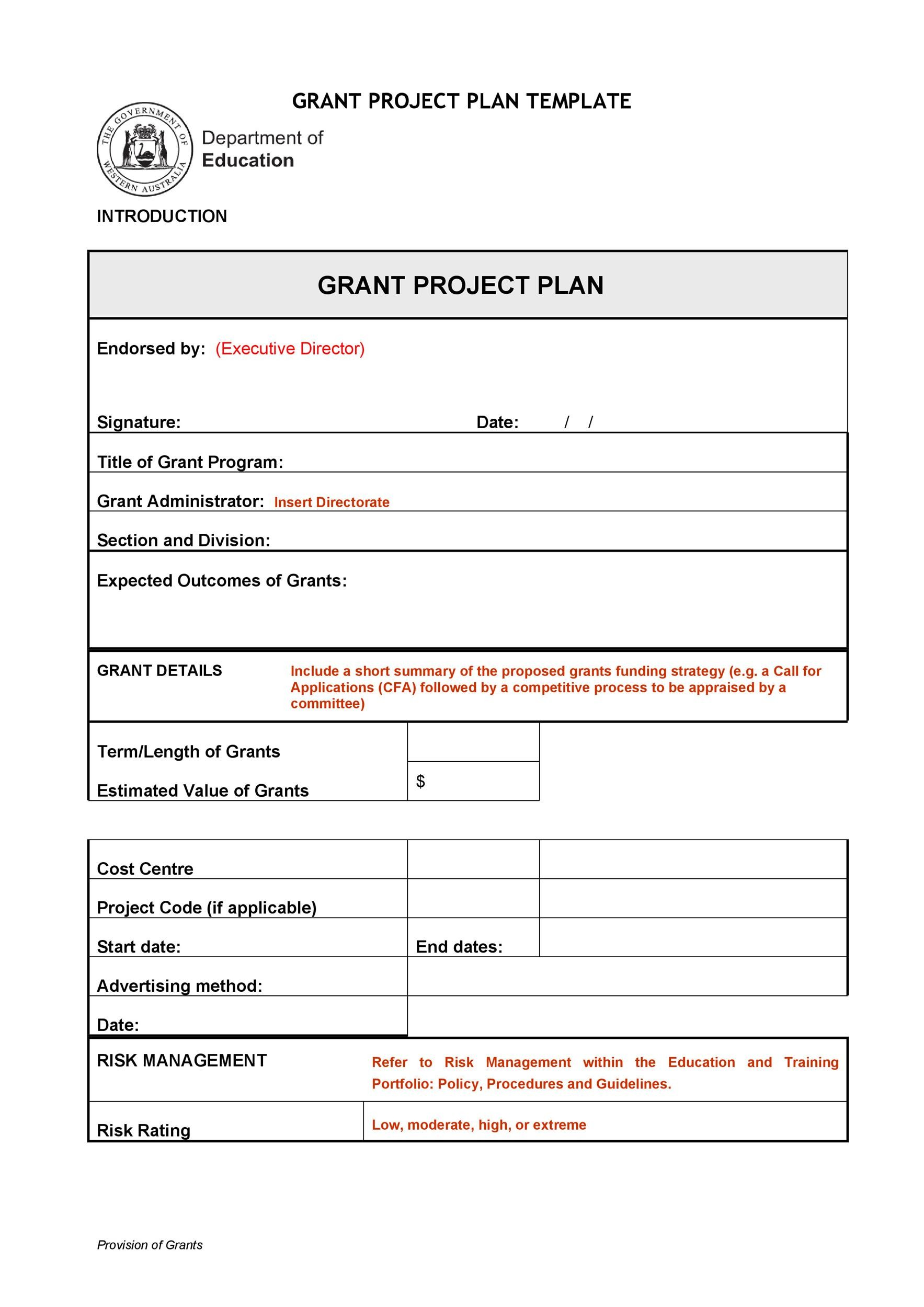 Free project planning template 17