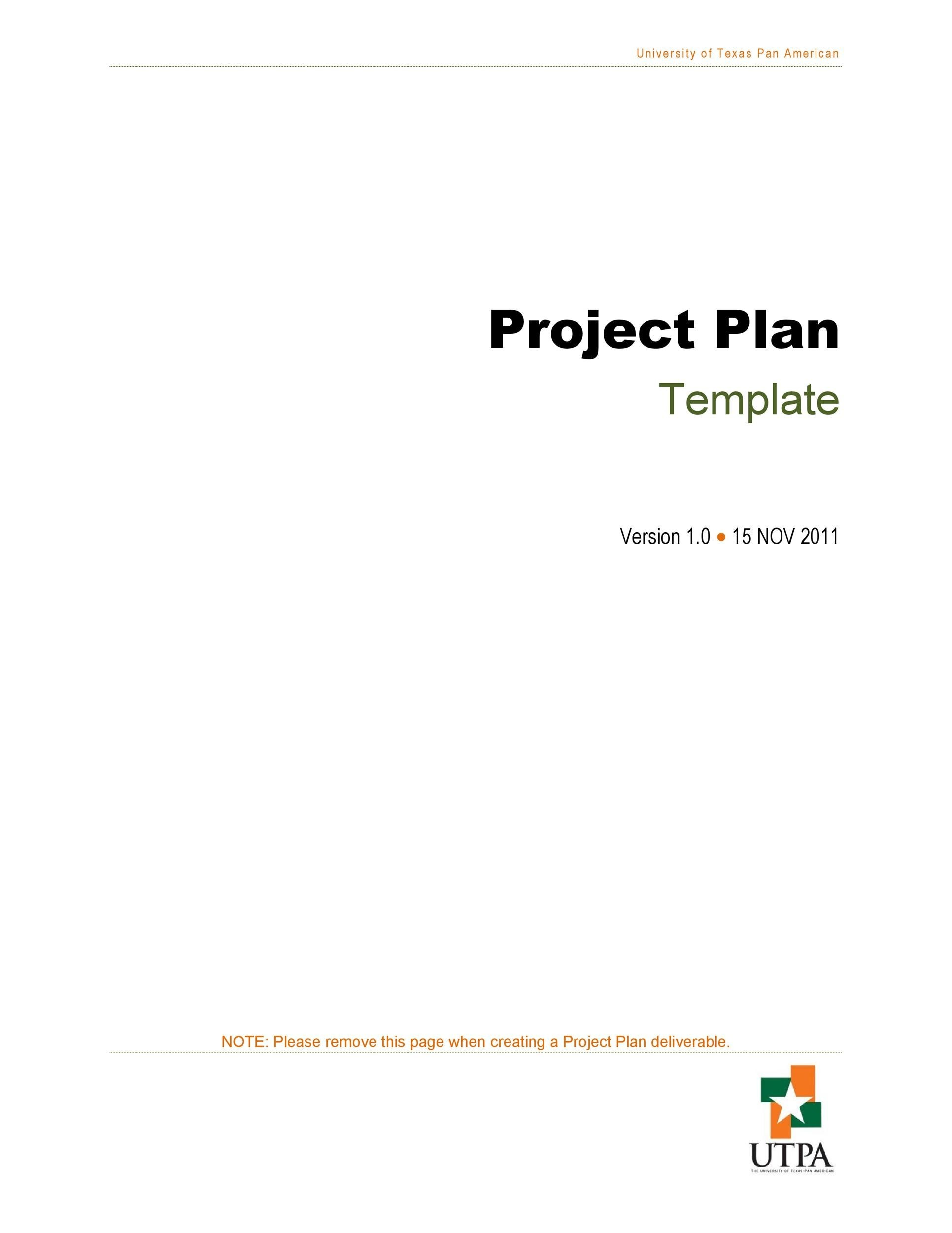 Free project planning template 19
