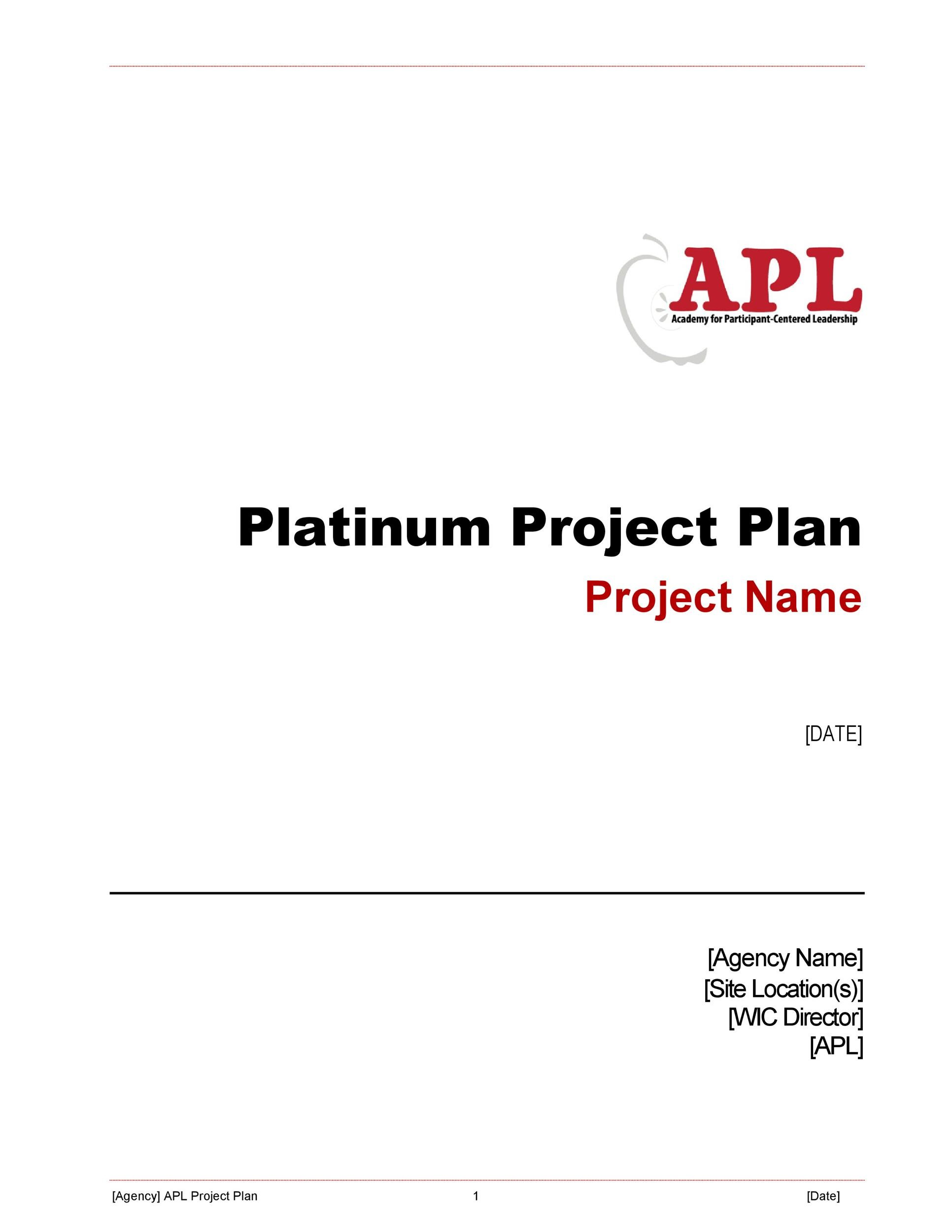 Free project planning template 24