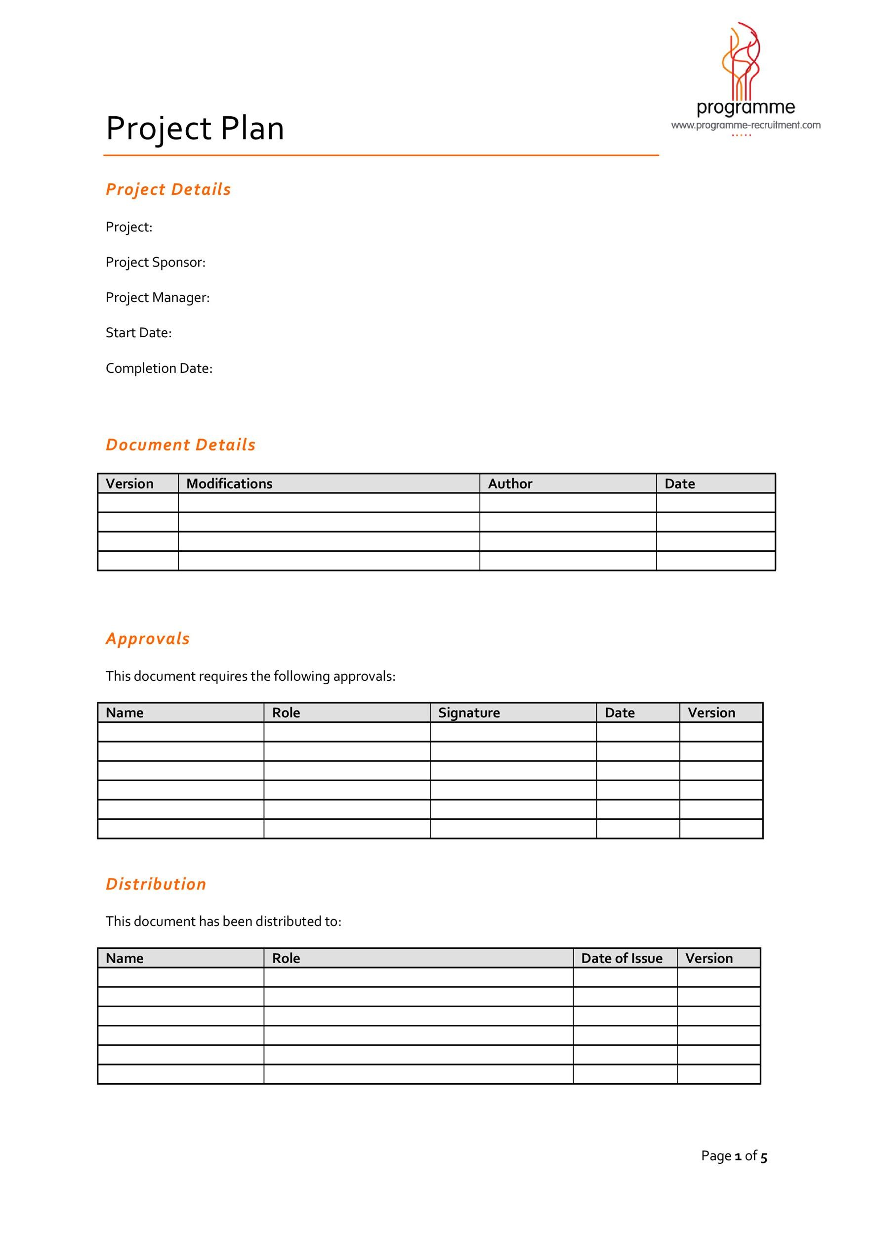 Free project planning template 27