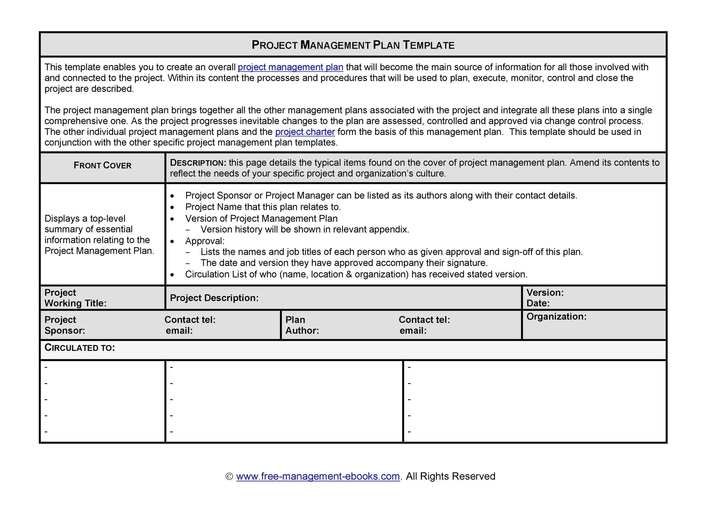 48 Professional Project Plan Templates Excel Word Pdf ᐅ