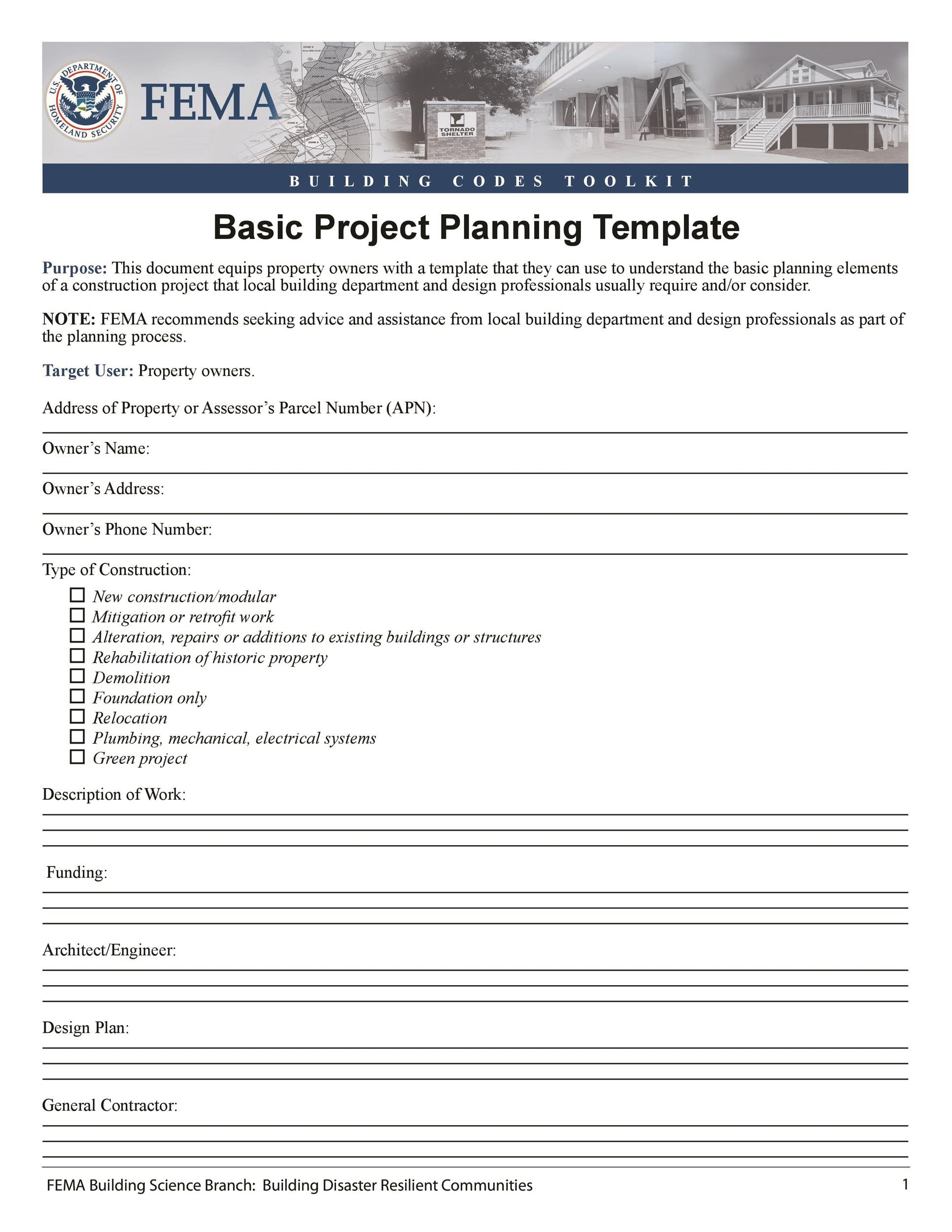 Free project planning template 29