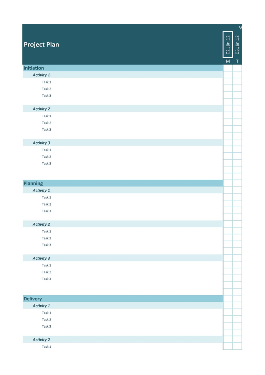 Free project planning template 30