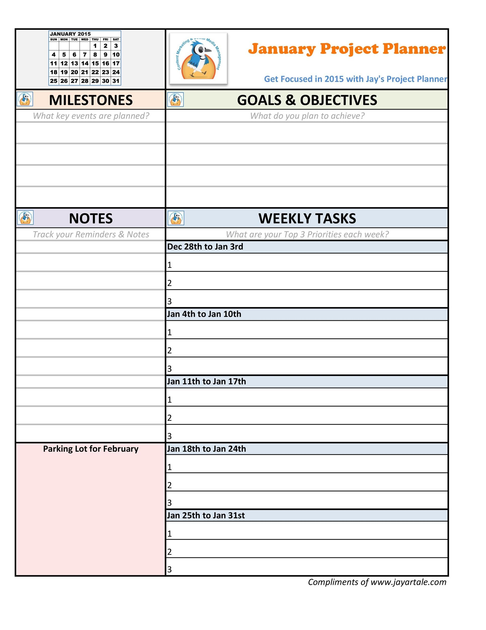 Free project planning template 38