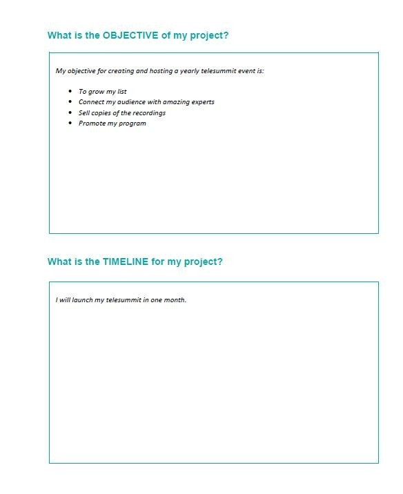 Free project planning template 43