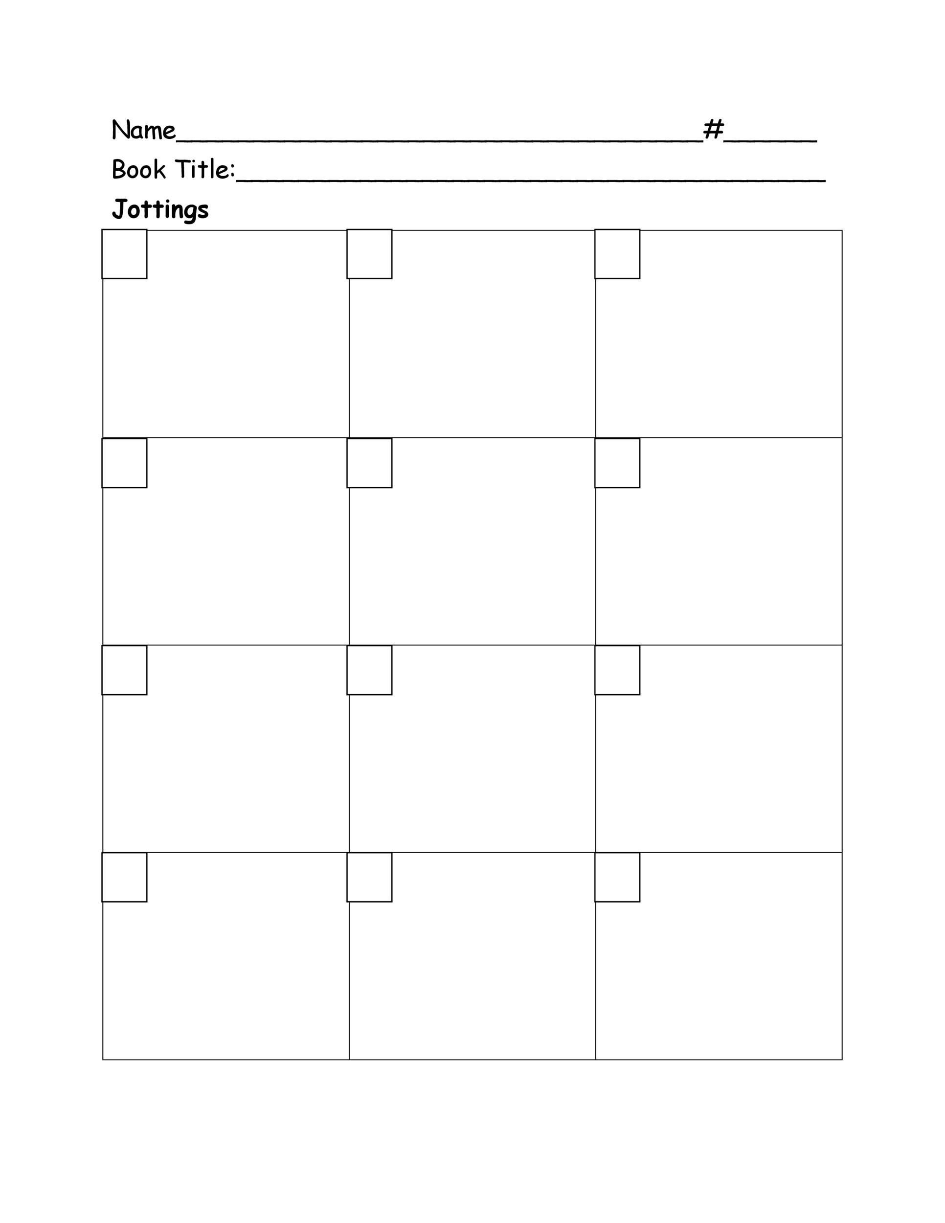 Free reading log template 44
