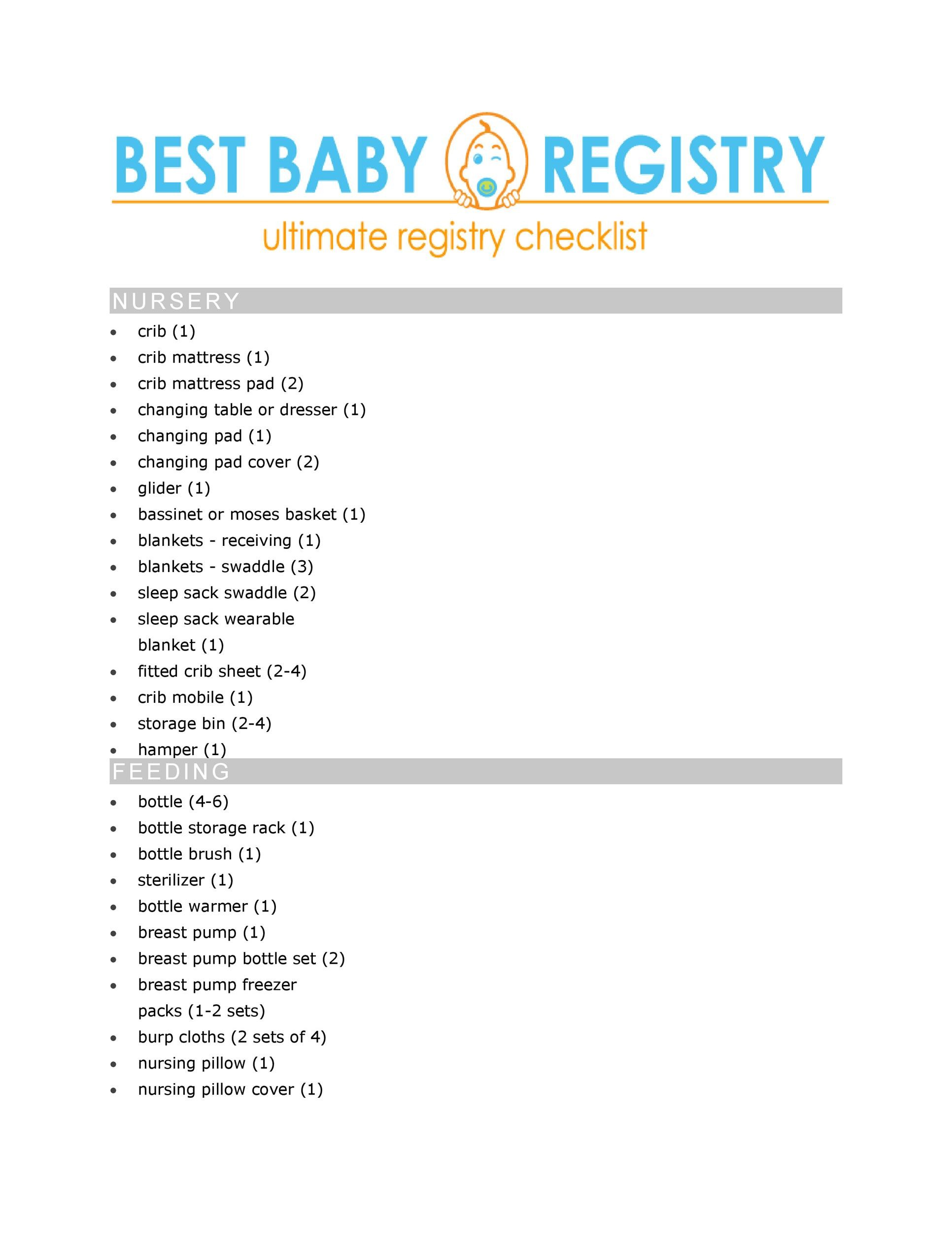 Free Baby Registry Checklist 03