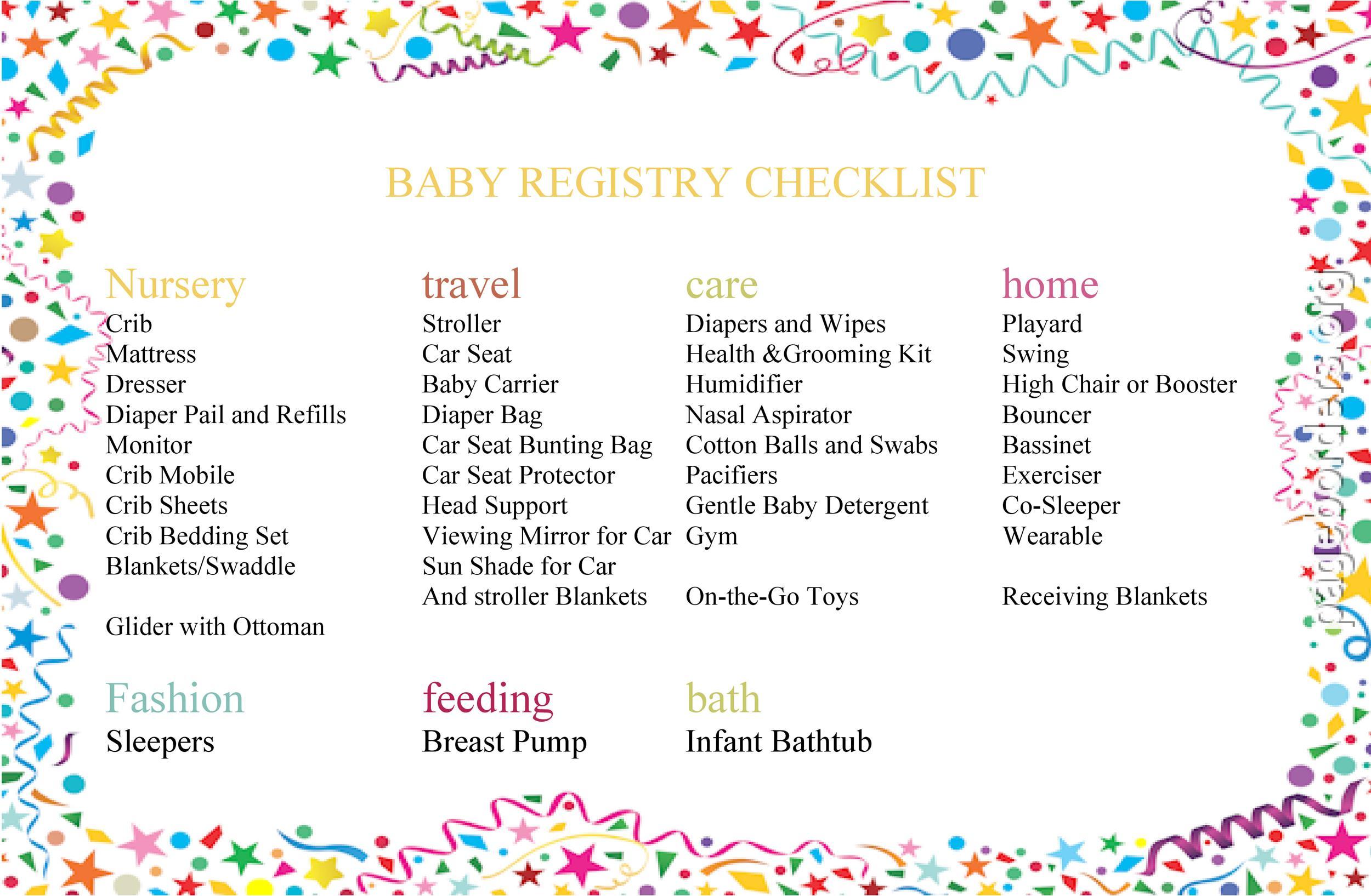 Free Baby Registry Checklist 06