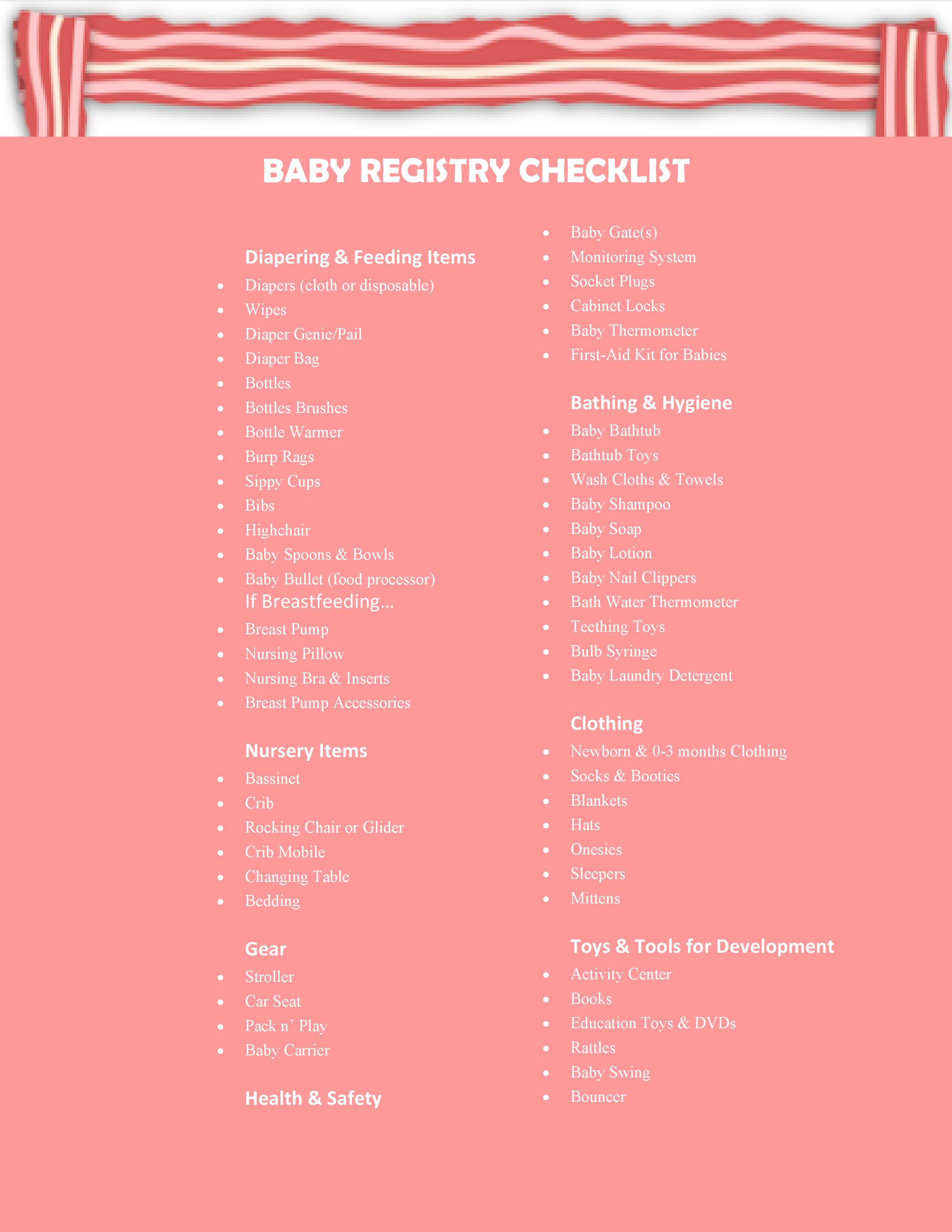 Baby Boy Registry Checklists