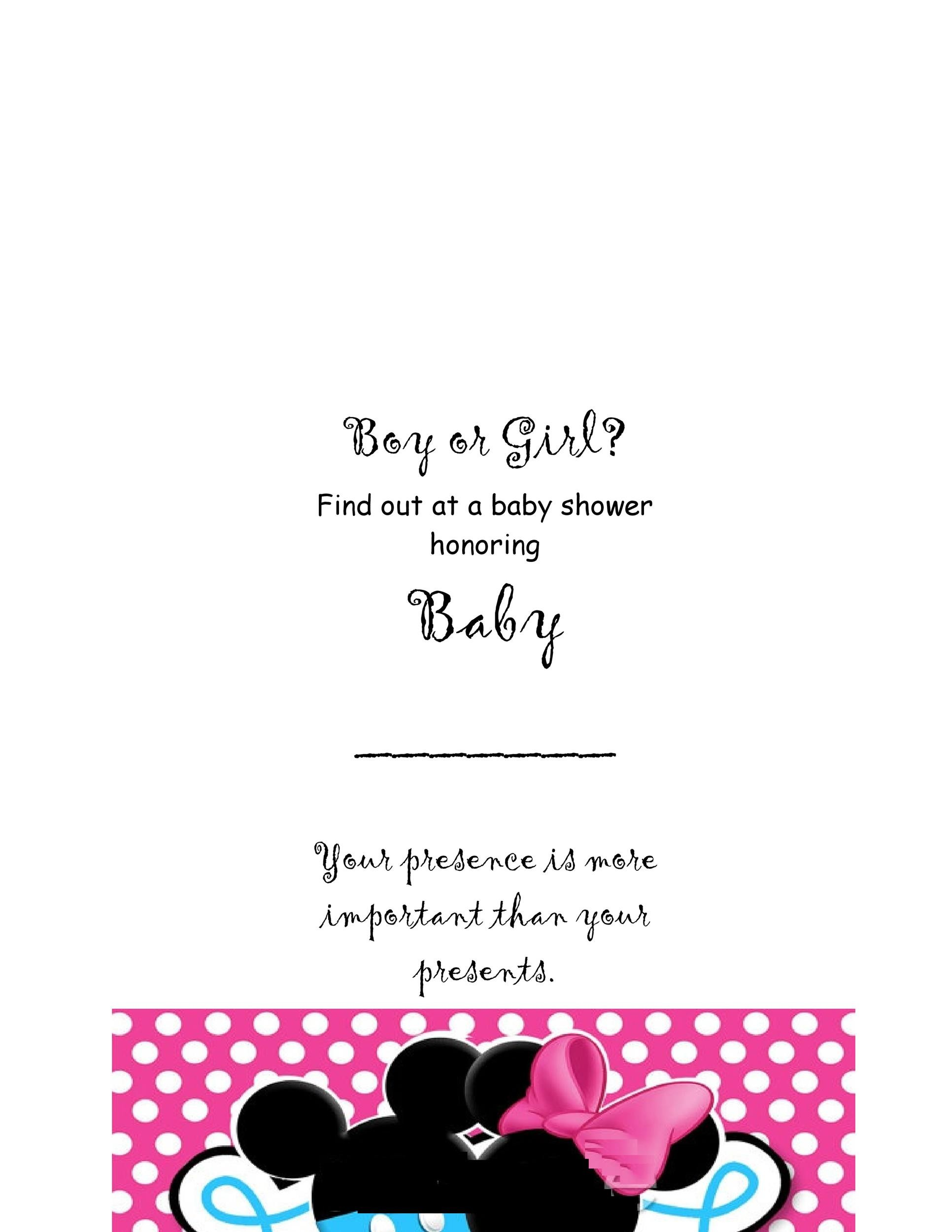 Printable Gender Reveal Invitation Template 03  Free Template Invitation