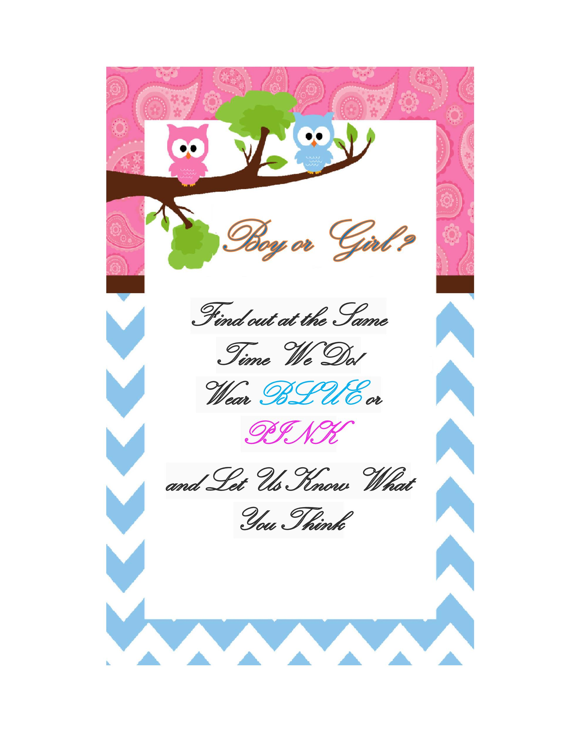 Free Gender Reveal Invitation Template 05