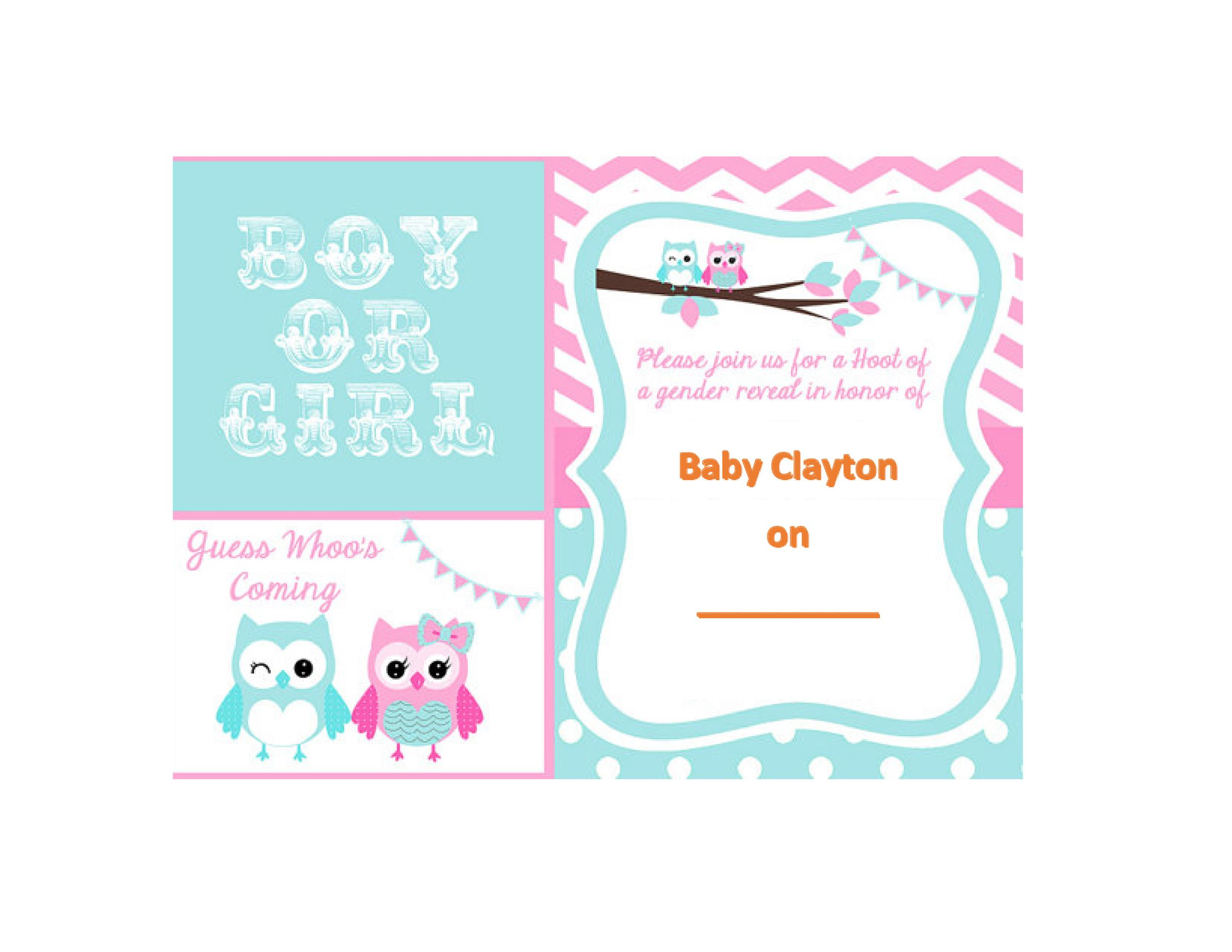 Free Gender Reveal Invitation Template 06