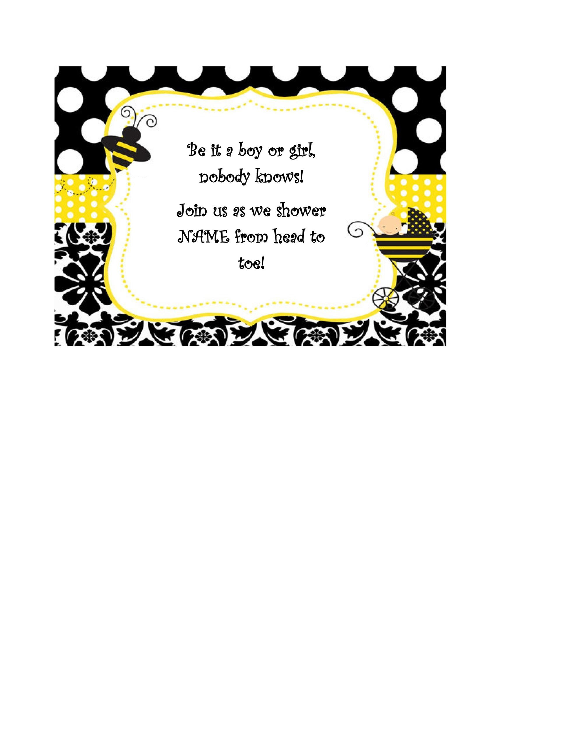 Free Gender Reveal Invitation Template 11
