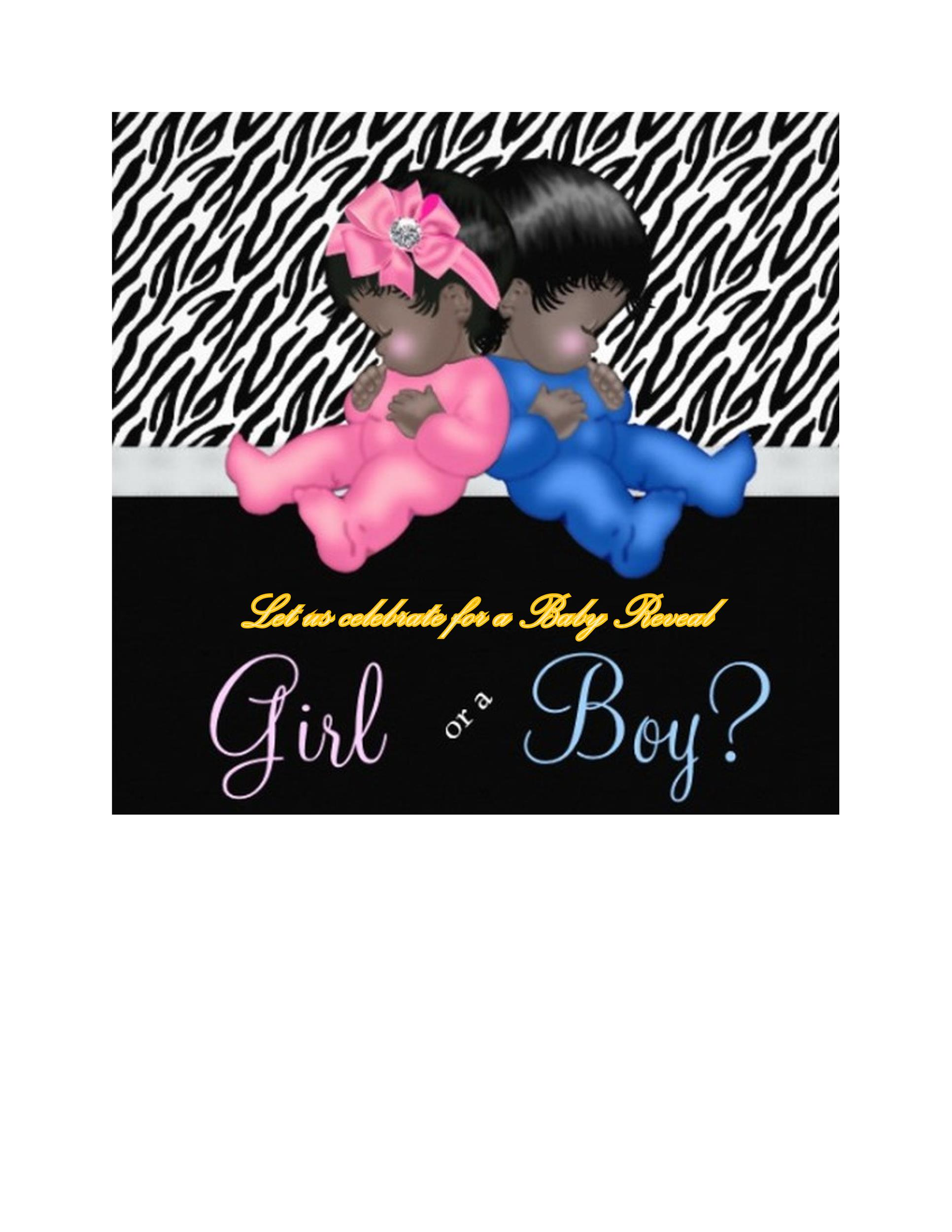 Free Gender Reveal Invitation Template 12