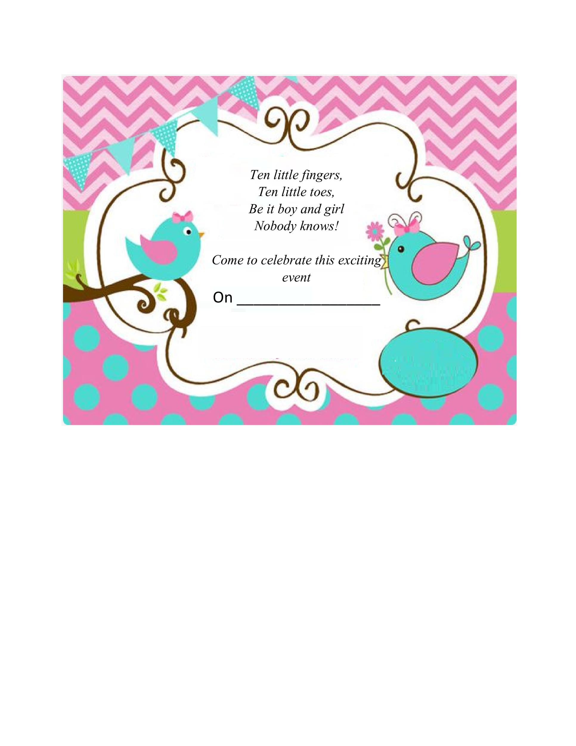 Free Gender Reveal Invitation Template 13