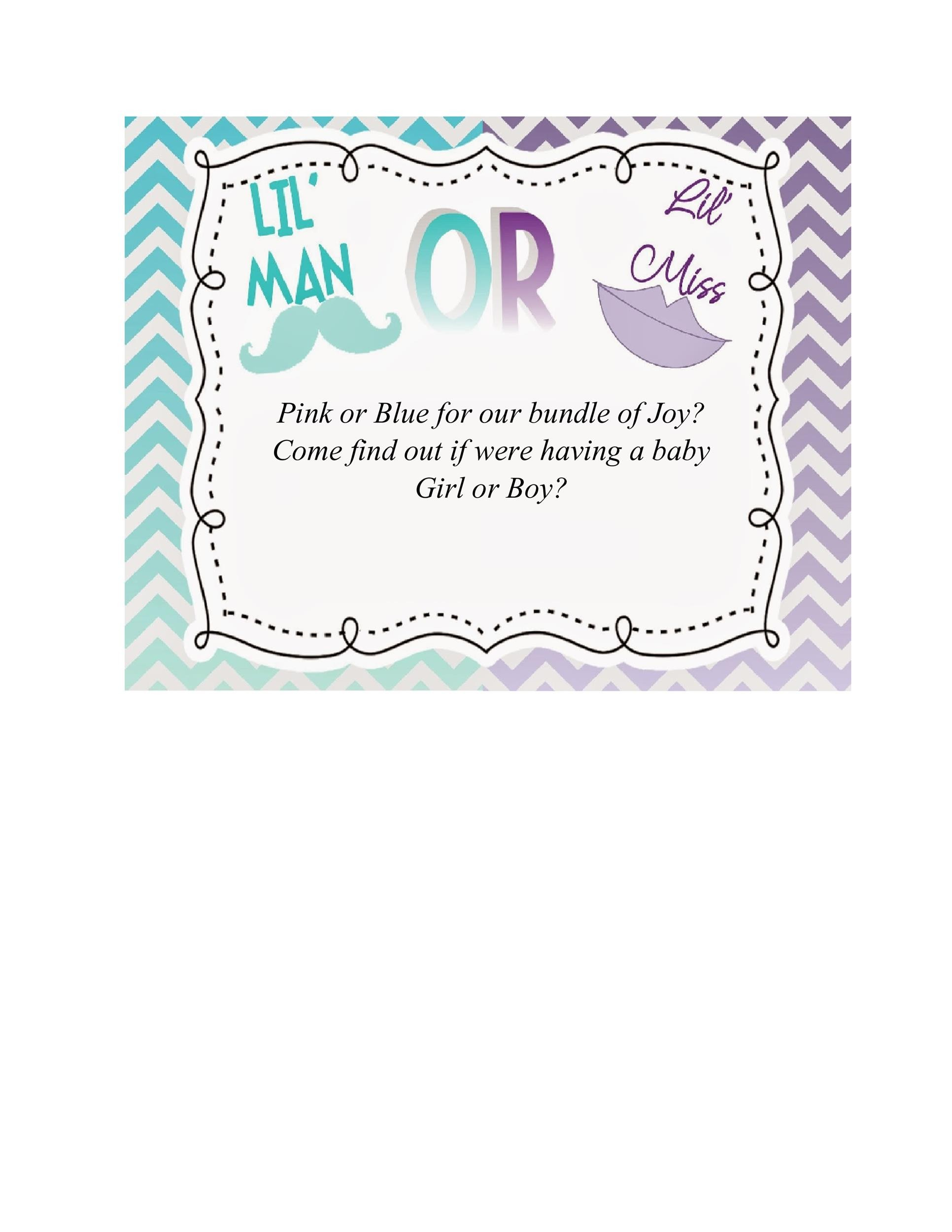 picture about Free Printable Gender Reveal Invitations identify 17 Free of charge Gender Explain Invitation Templates ᐅ Template Lab