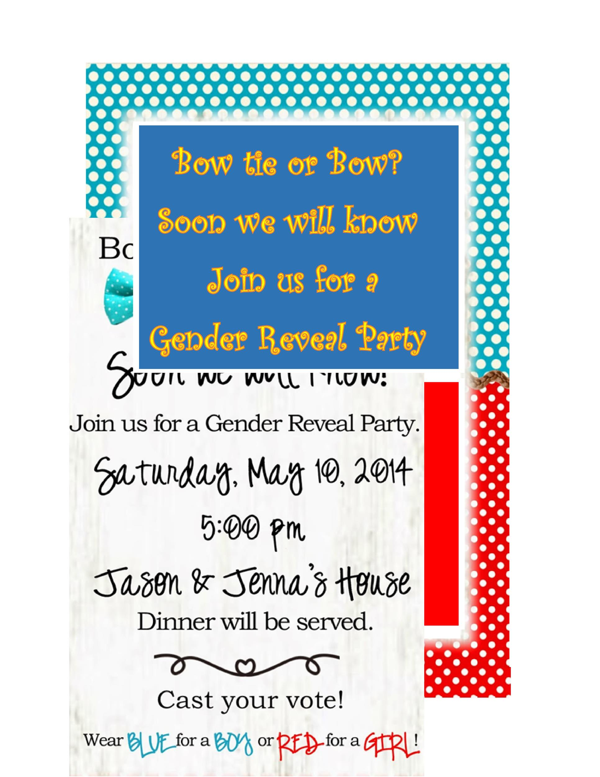 Free Gender Reveal Invitation Template 15